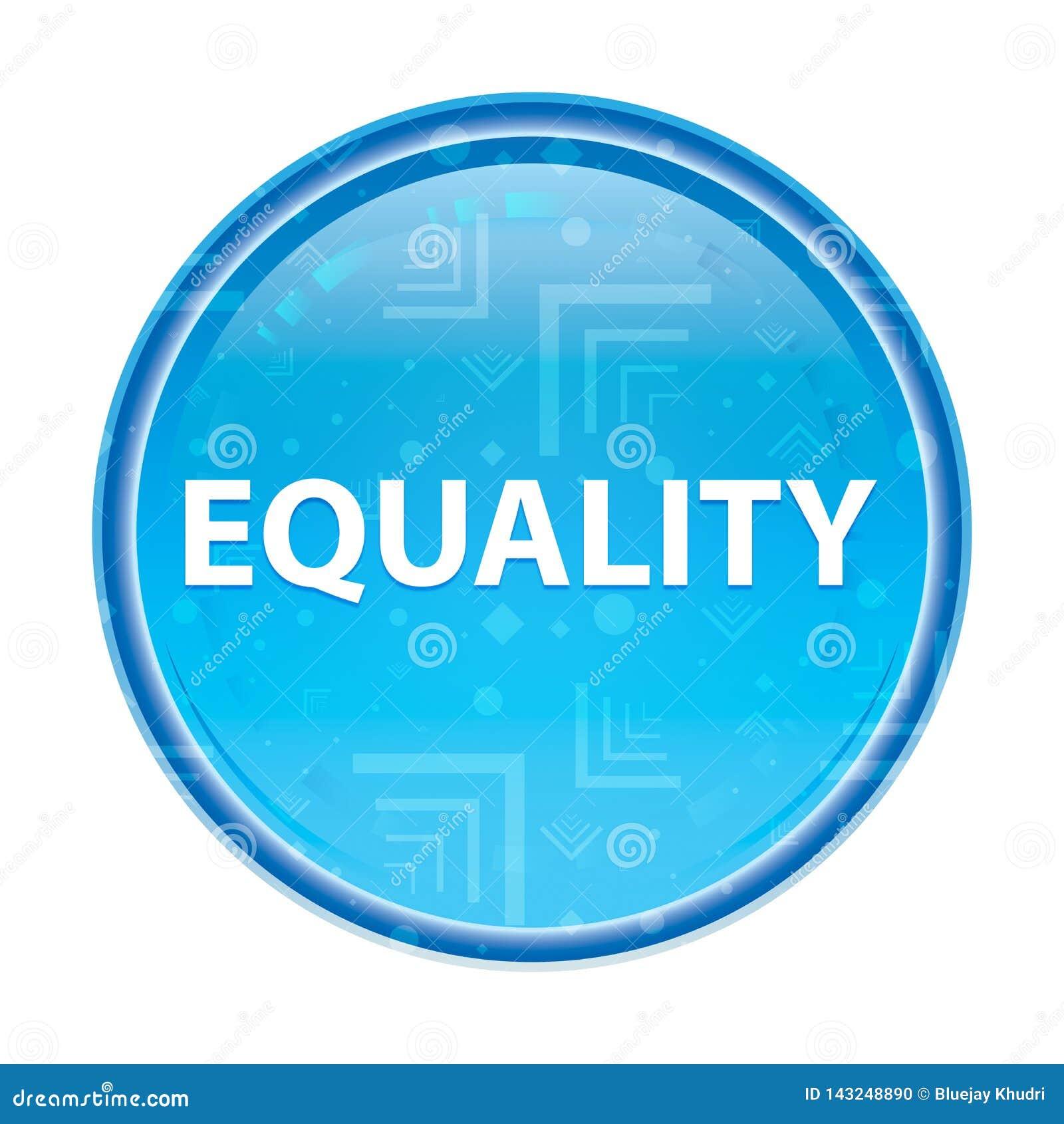 平等花卉蓝色圆的按钮