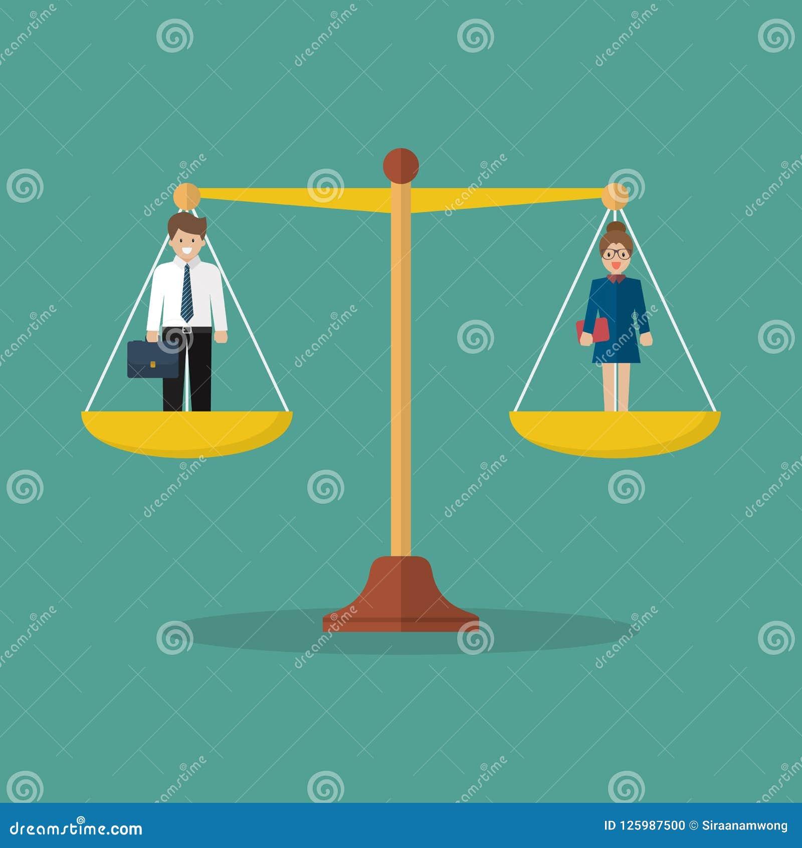 平衡在等级的商人和妇女