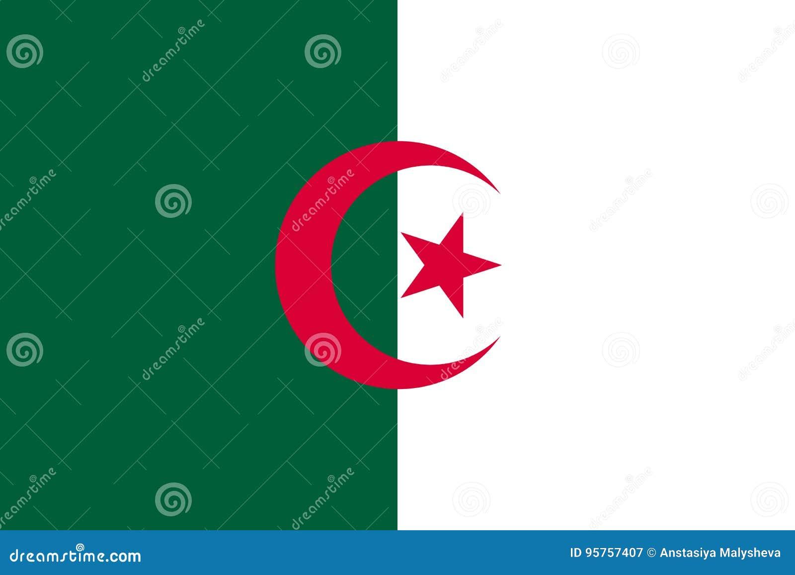 平阿尔及利亚的旗子