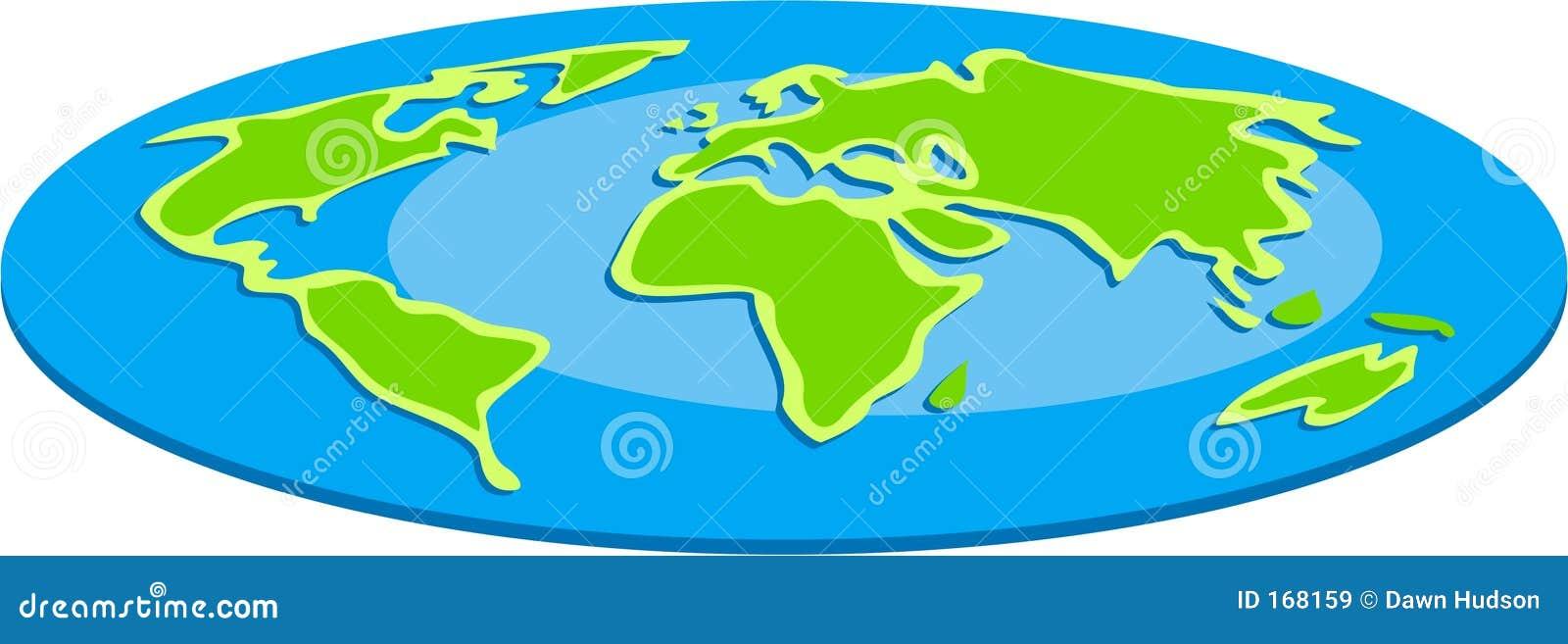 平面的地球