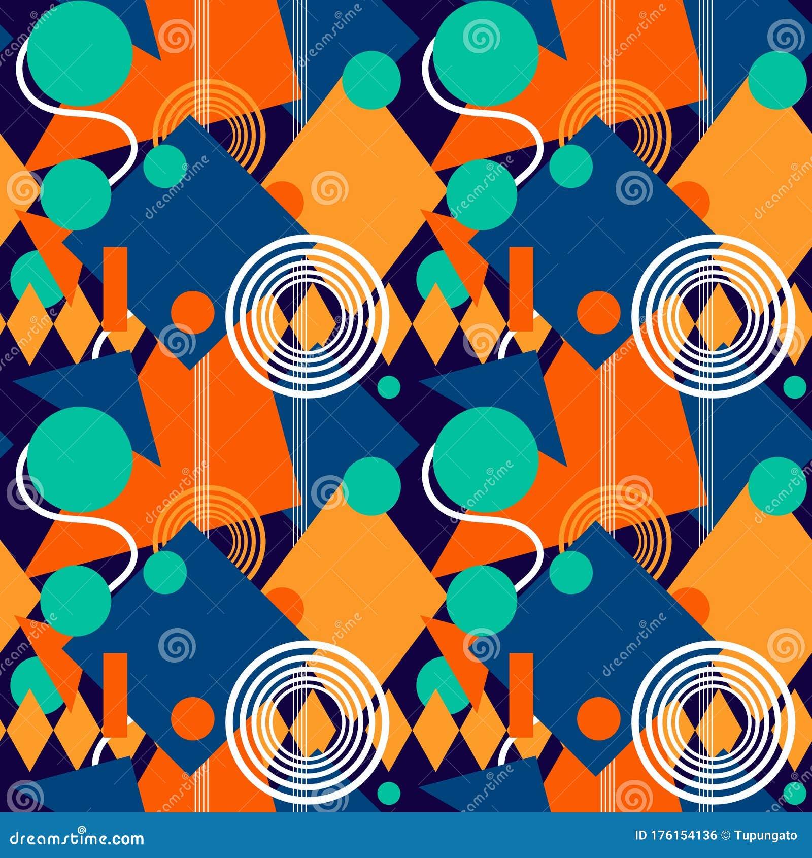 00年代几何学背景向量例证 插画包括有纹理 装饰品 时髦 都市 向量 几何 正方形