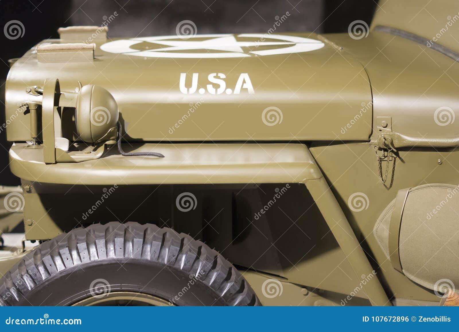 1944年威力斯MB关闭美国军用葡萄酒车  侧视图