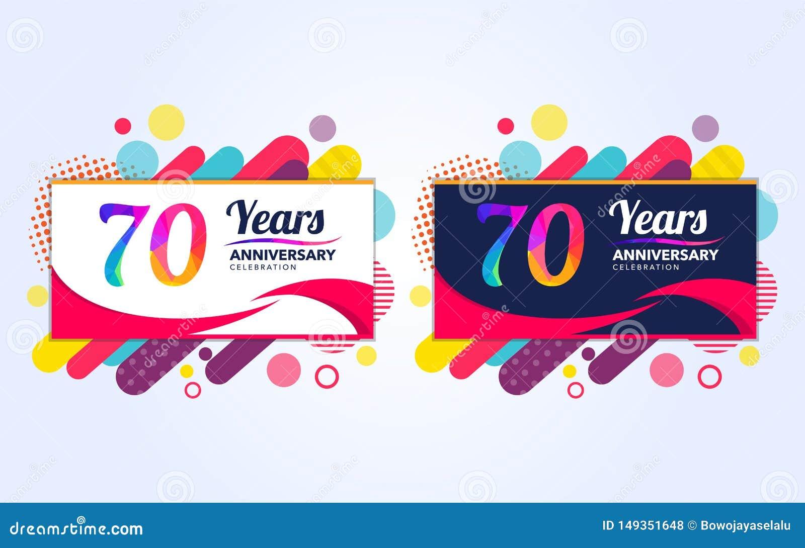 70年流行周年现代设计元素,五颜六色的编辑,庆祝模板设计,流行音乐庆祝模板设计,