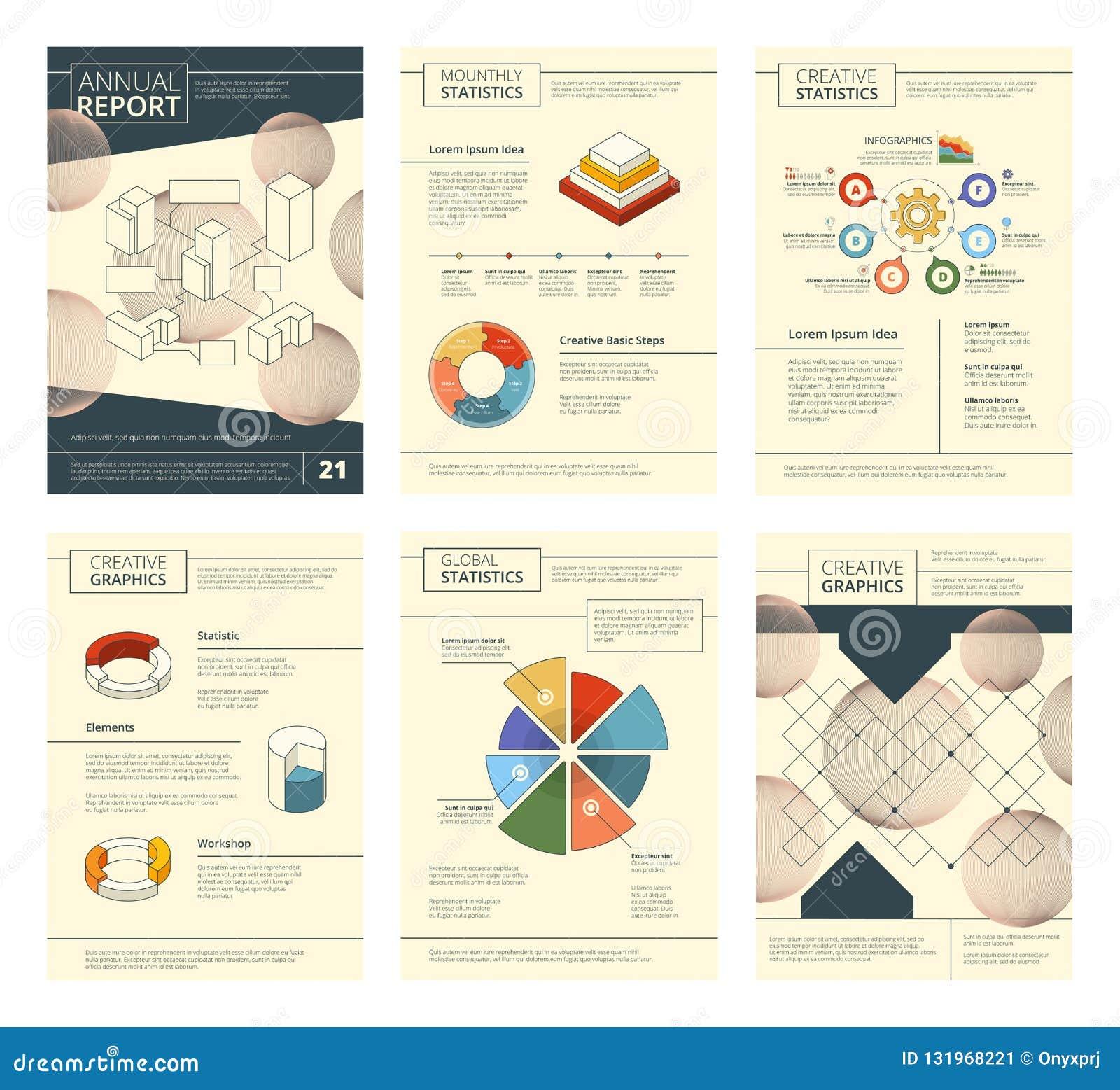 年终报告模板 报告商业公司介绍横幅飞行物页小册子传染媒介设计