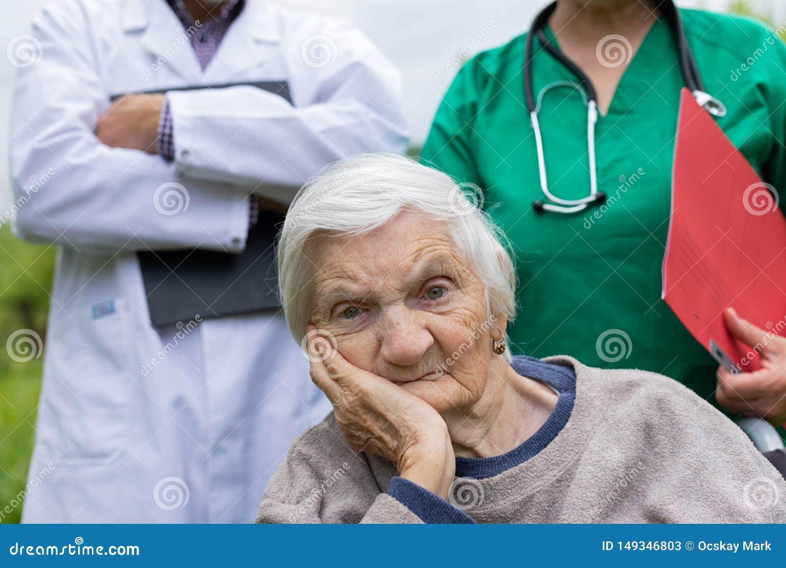 年长妇女画象以老年痴呆疾病