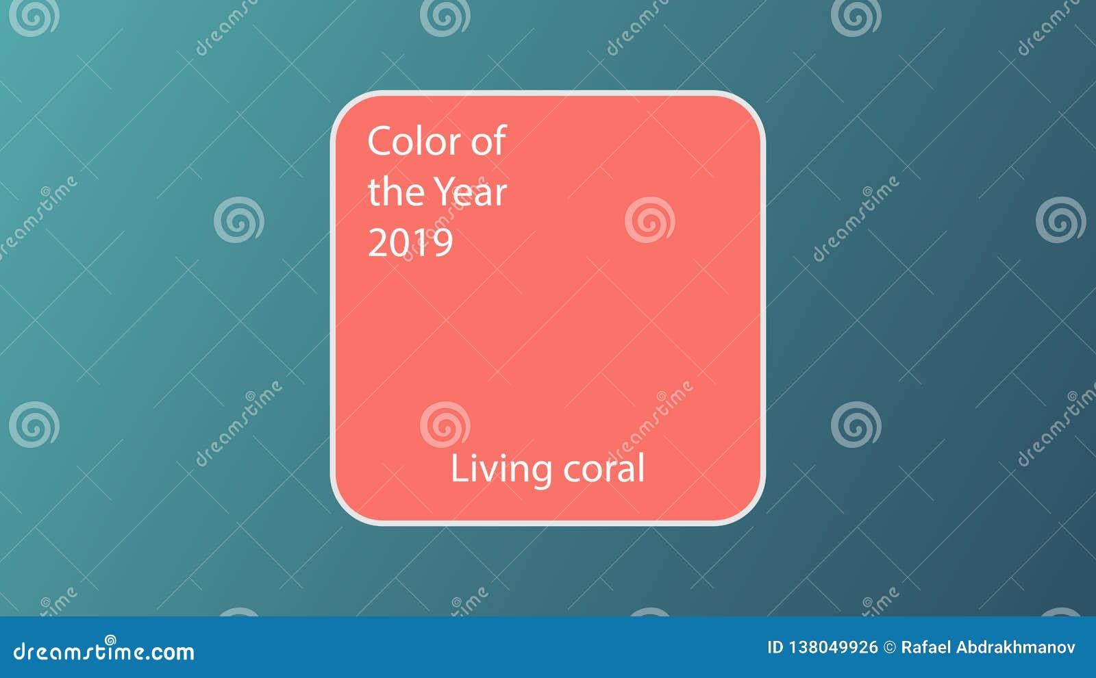 年2019居住的珊瑚的主要颜色 样片时装业快乐树荫软和温暖激动人心的趋向颜色s的