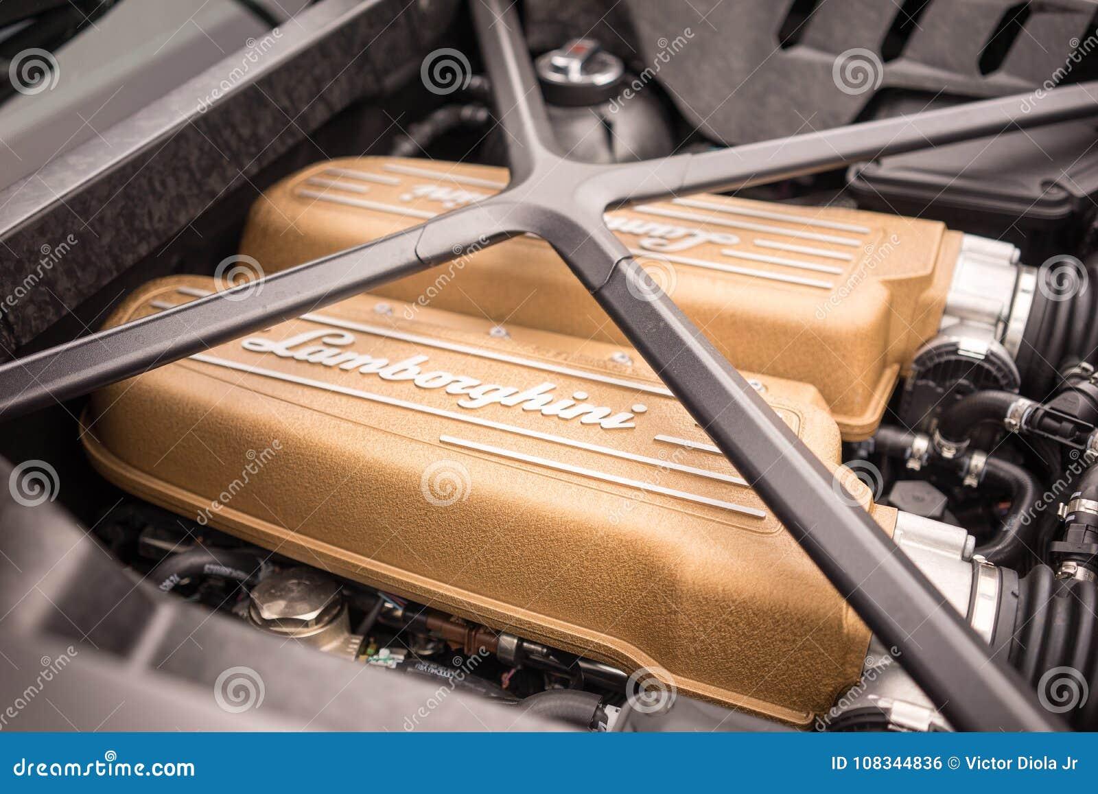 2017年Lamborghini Huracà ¡ n LP640 Performante引擎