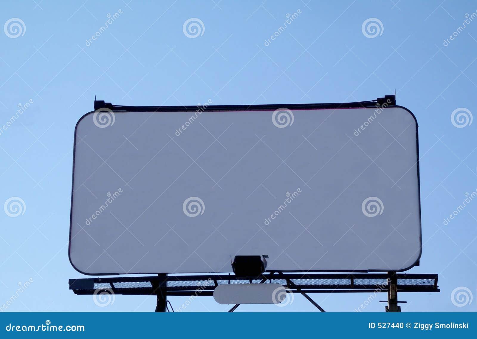 广告牌白色