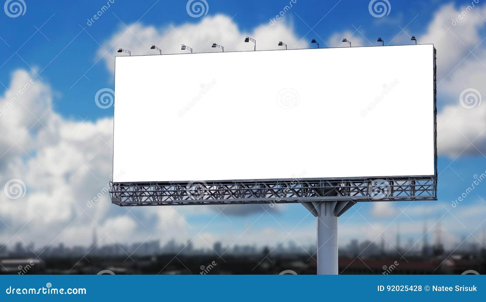 广告牌空白城市