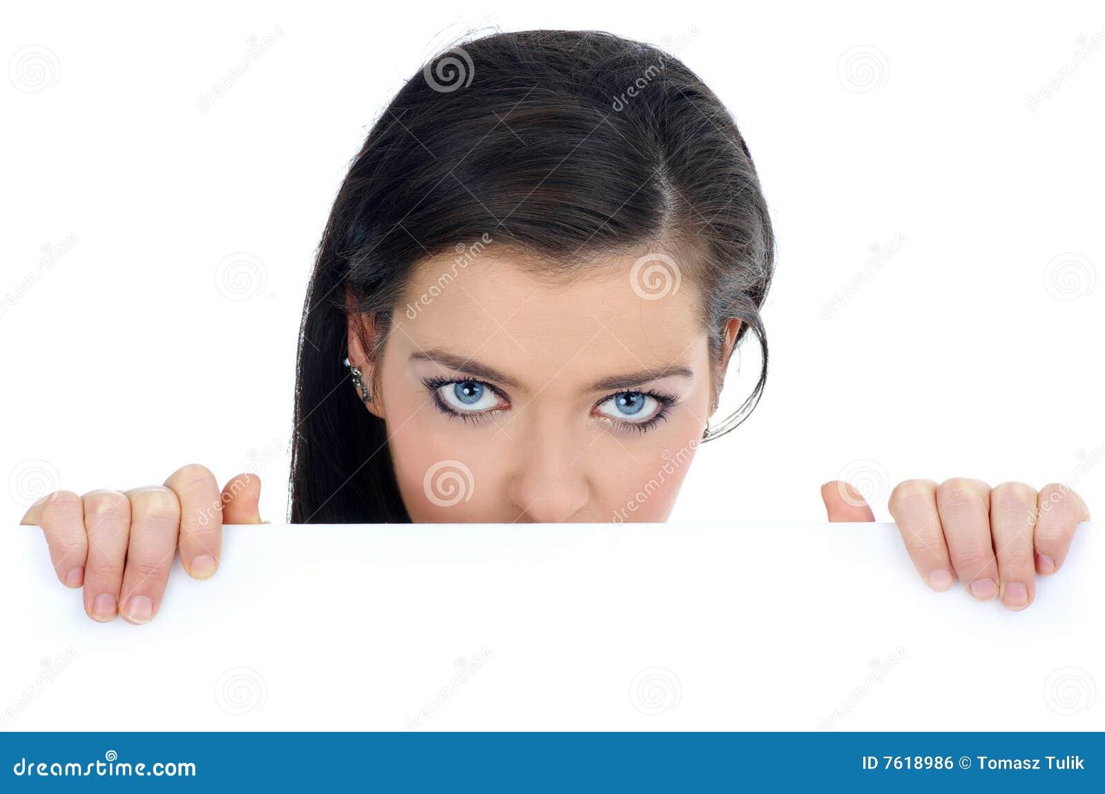 广告牌空白藏品妇女