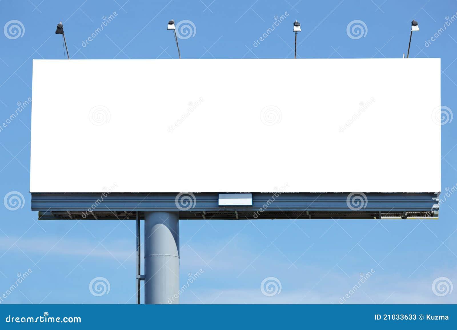 广告牌空白