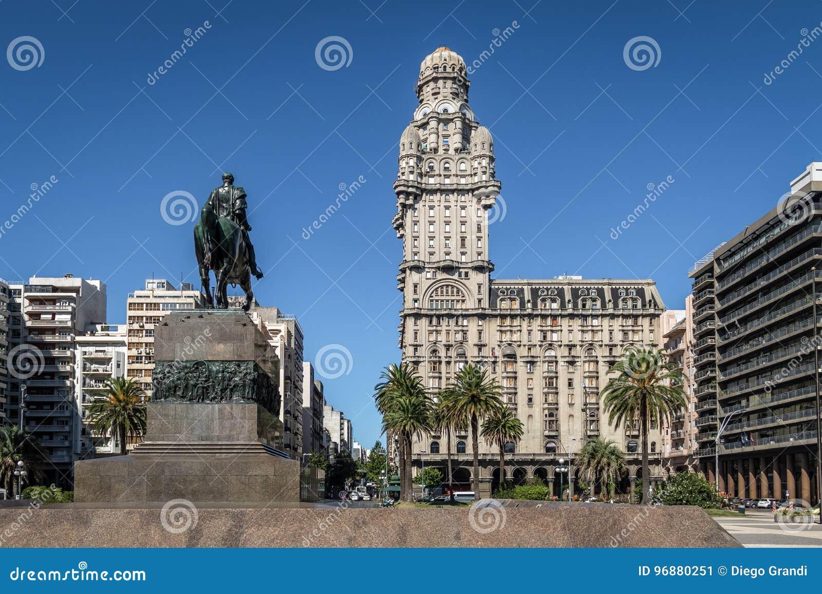 广场Independencia和帕拉西奥齐射-蒙得维的亚,乌拉圭