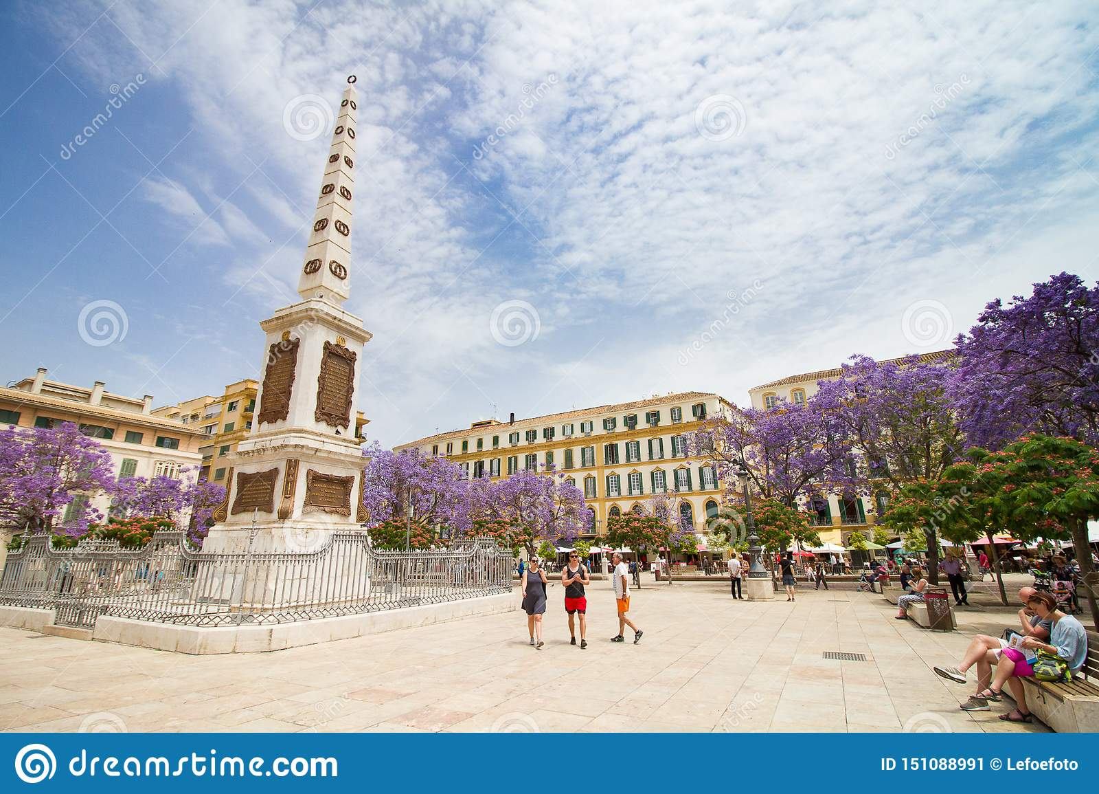 广场merced马拉加广场纪念碑