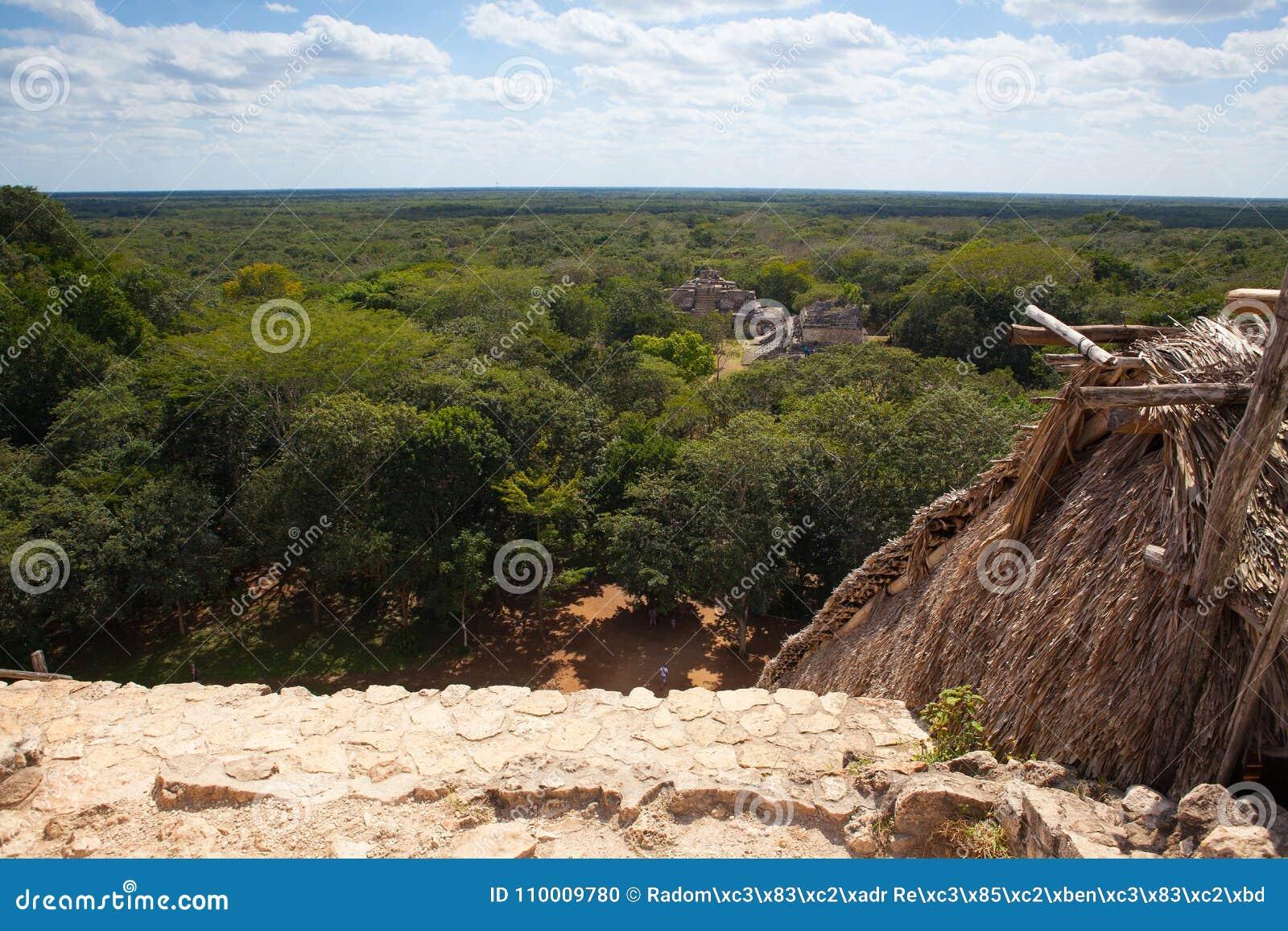 庄严废墟在Ek Balam Yucatà ¡ n,墨西哥