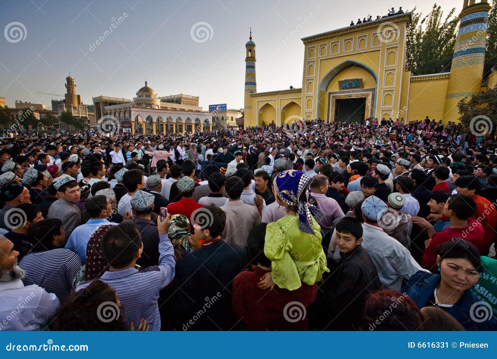 庆祝人群舞蹈演员穆斯林手表