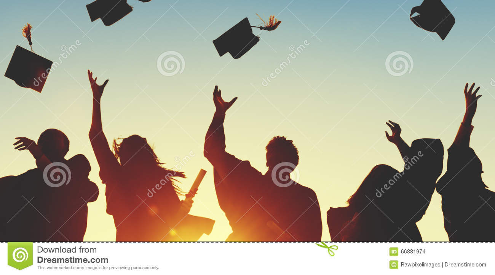 庆祝教育毕业学会Concep的学生成功