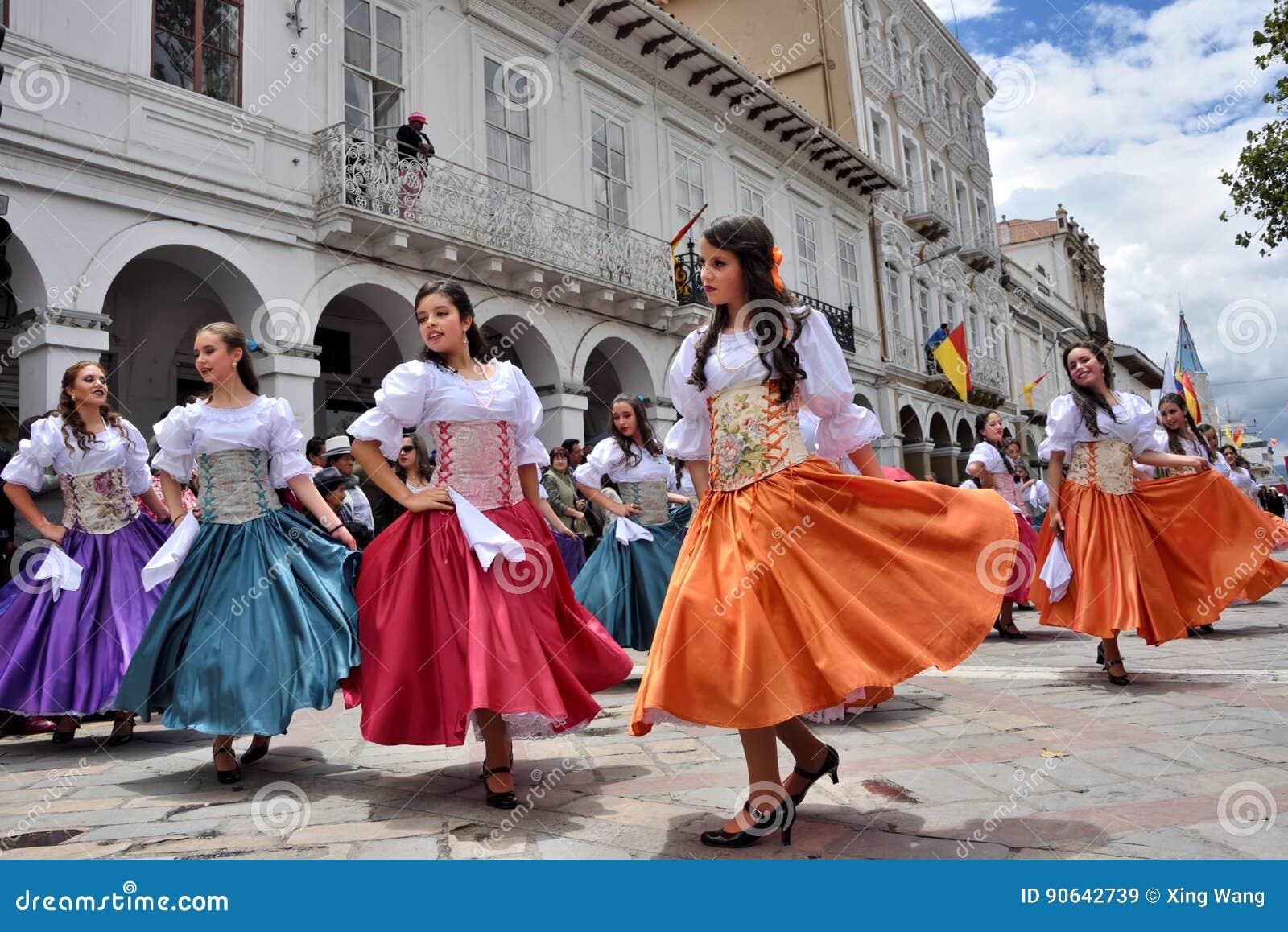 庆祝460年昆卡省` s基础,厄瓜多尔