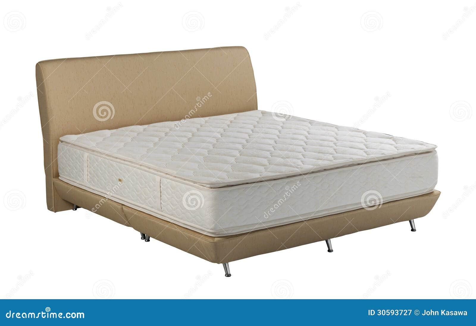 床垫在白色背景被隔绝隔绝的春天床