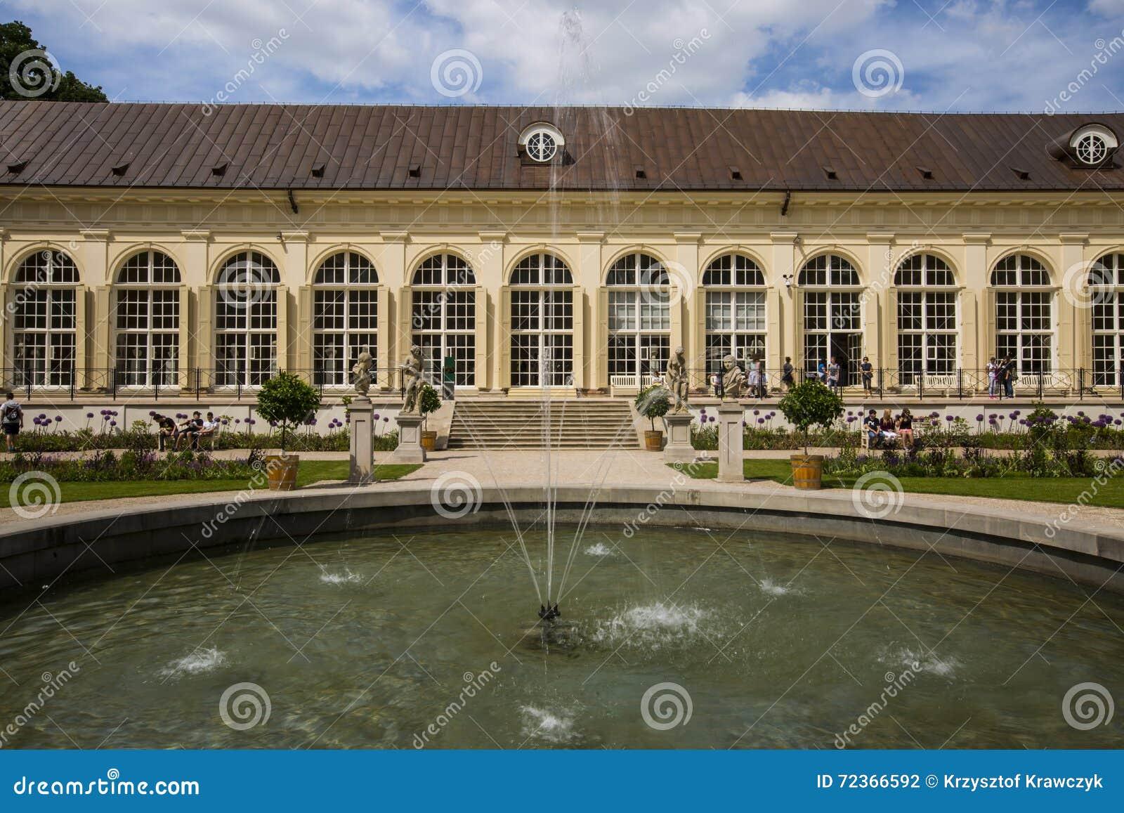 庭院在华沙,波兰