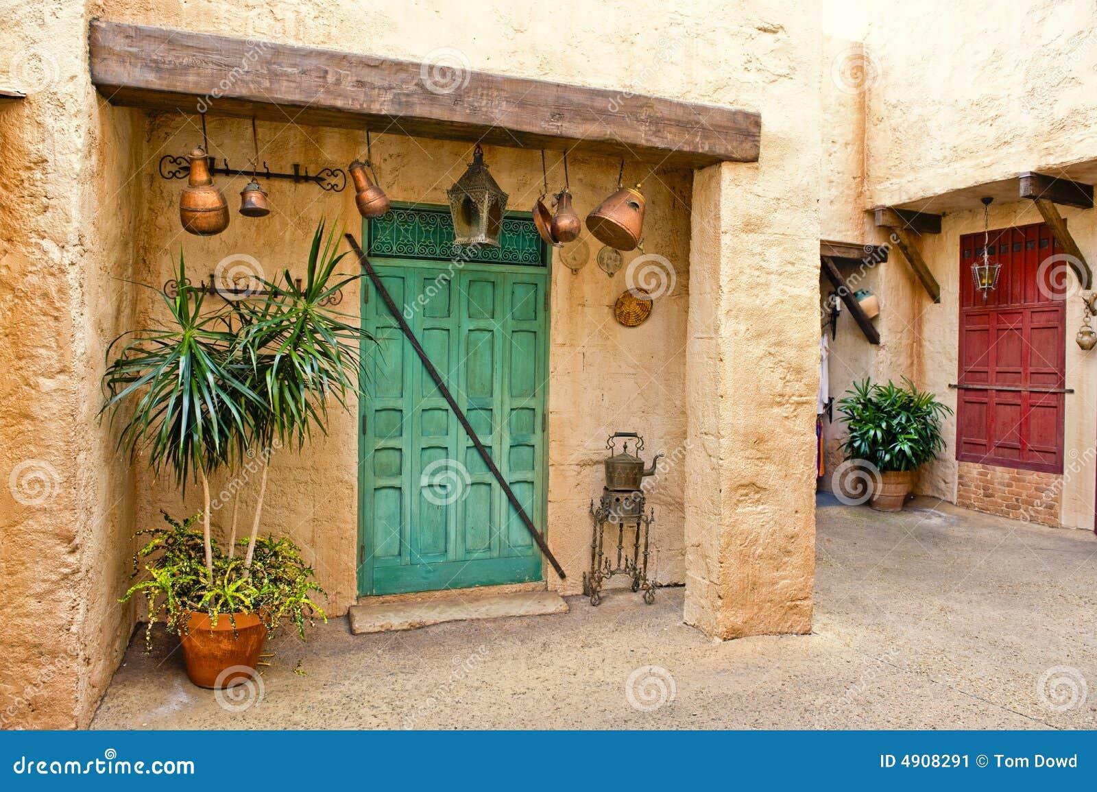 庭院家庭摩洛哥人