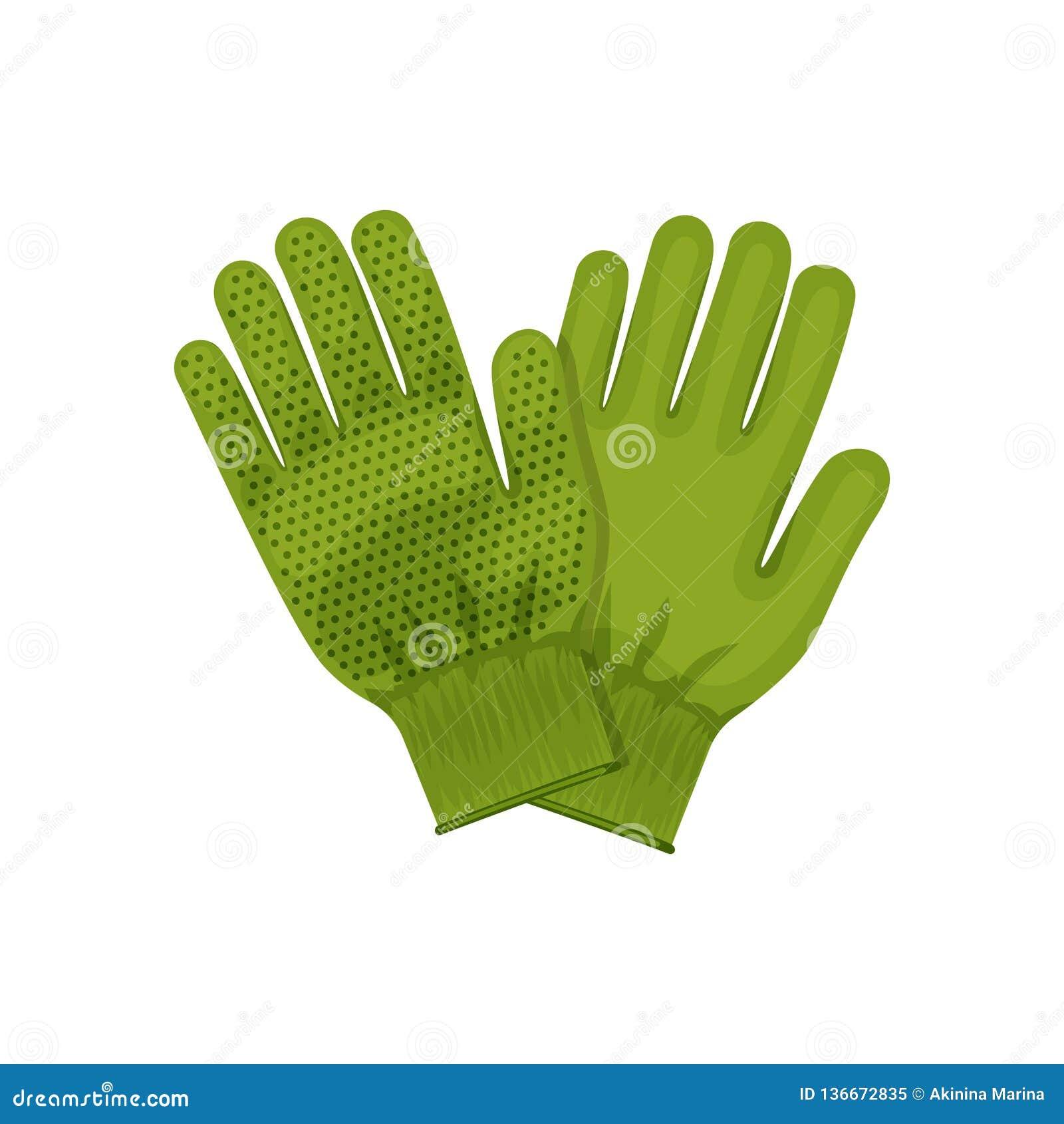 庭院手套 从事园艺和园艺工具的例证 手套 色的平的象,传染媒介设计