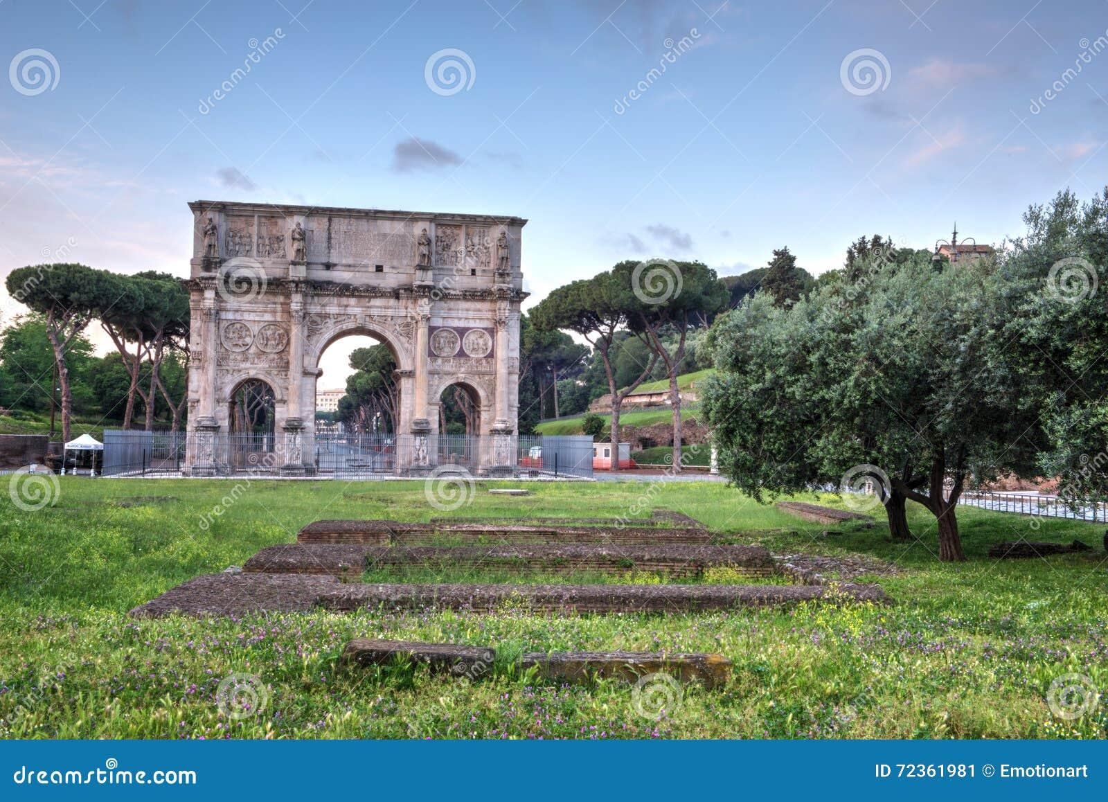 康斯坦丁曲拱在罗马,意大利