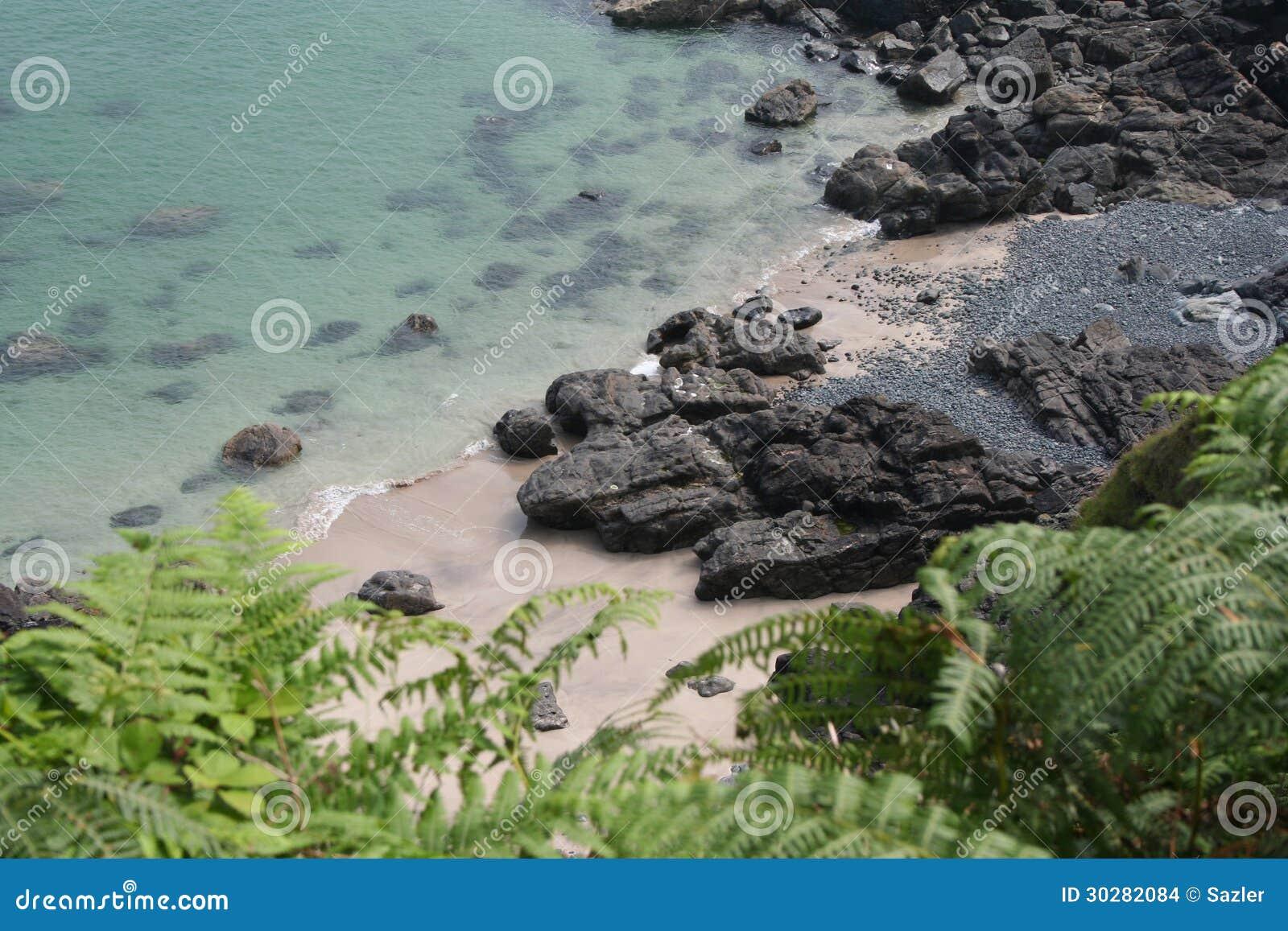 偏僻的Zennor海滩