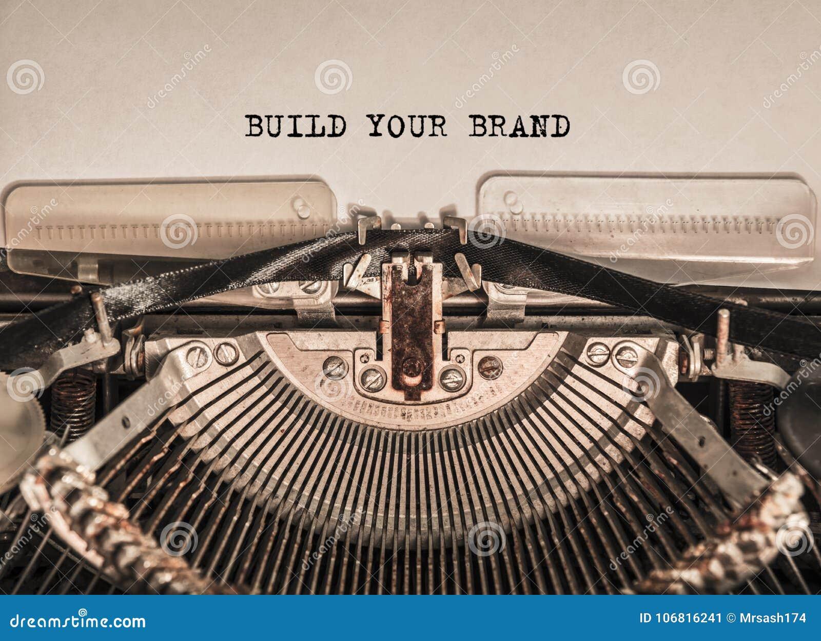 建立您的品牌打印了词