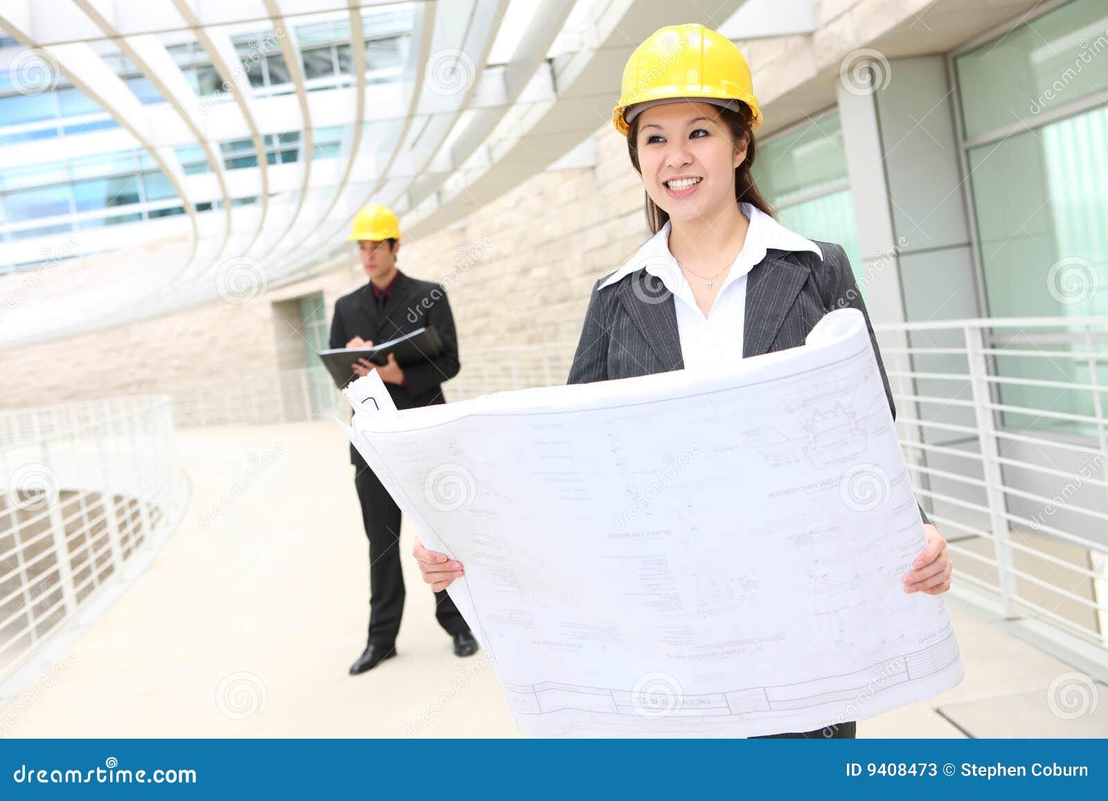 建筑师人妇女