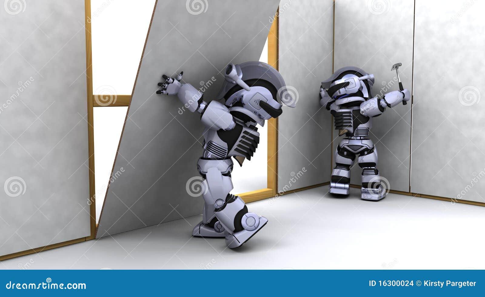建筑承包商干式墙机器人