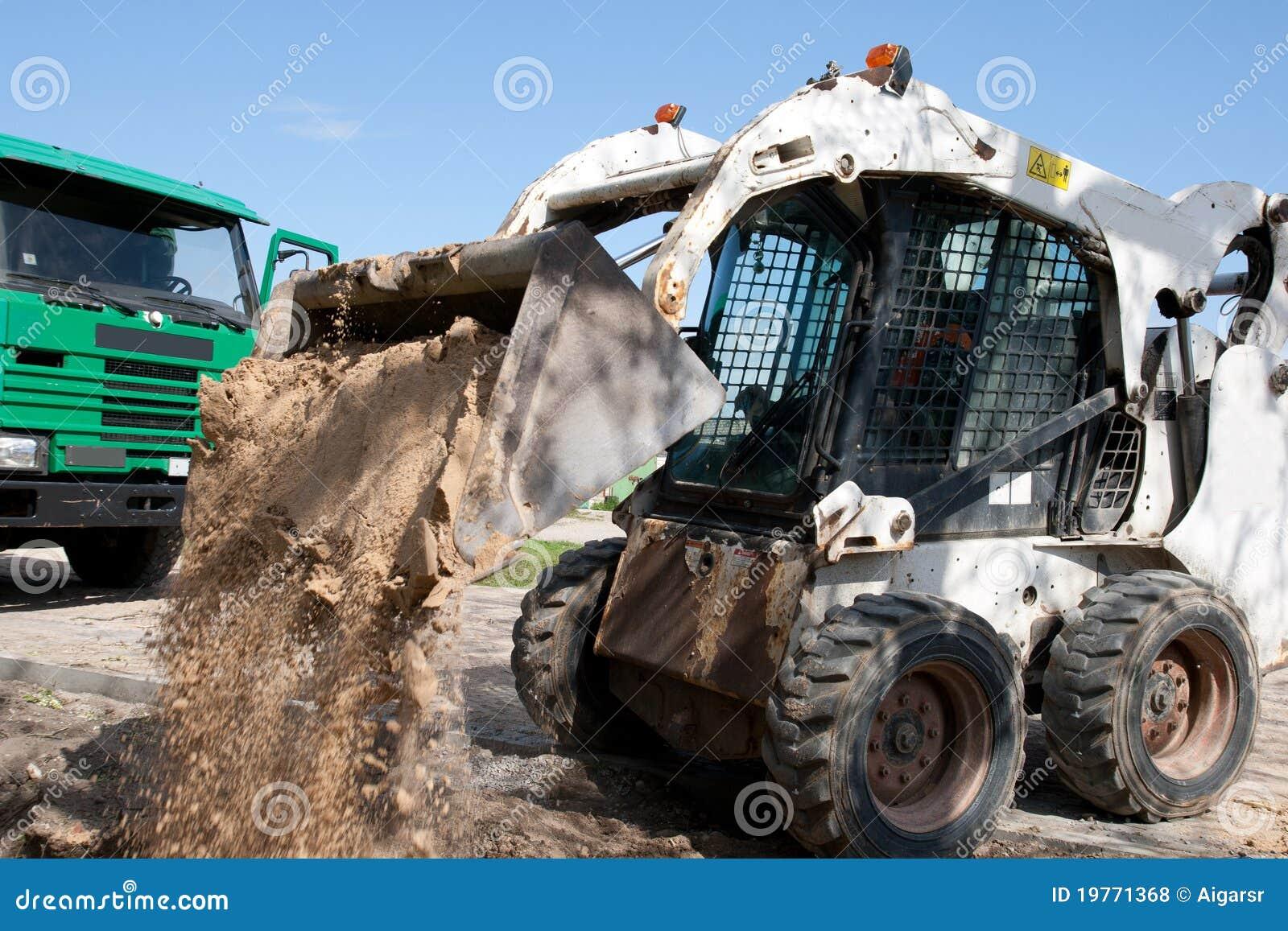 建筑挖掘机微型站点