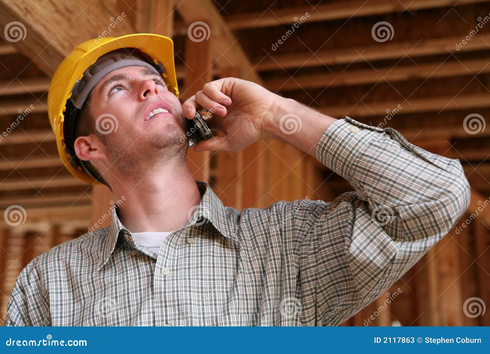 建筑电话工作者