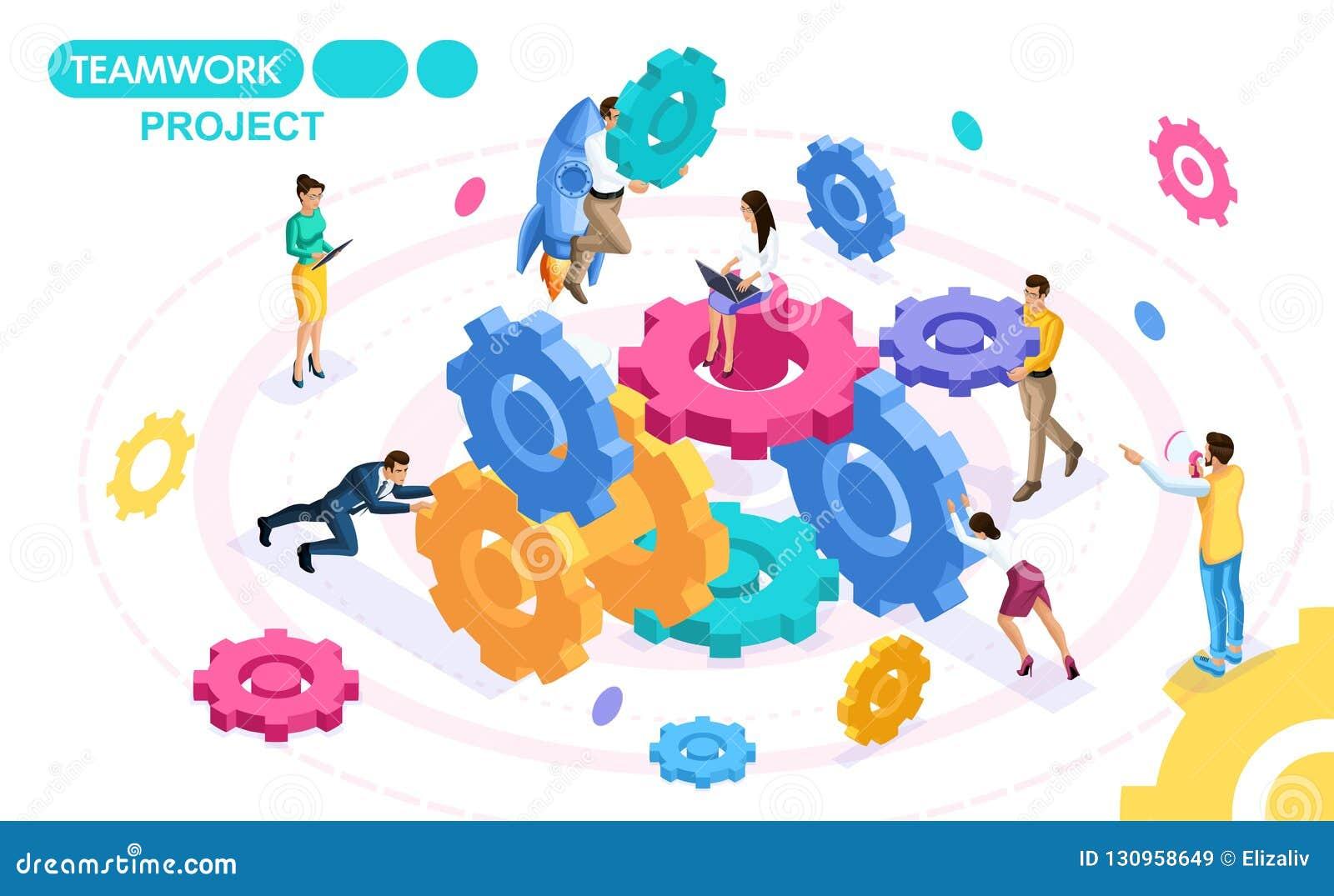 开发和创造配合,企业想法的项目等量概念,群策群力 移动人