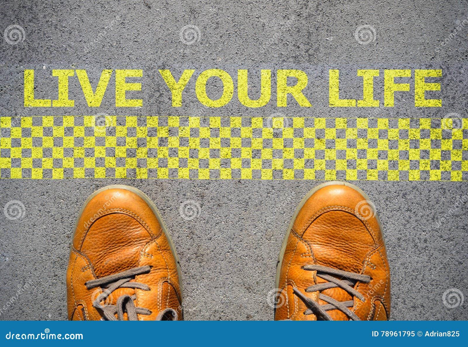 开始居住您的生活概念