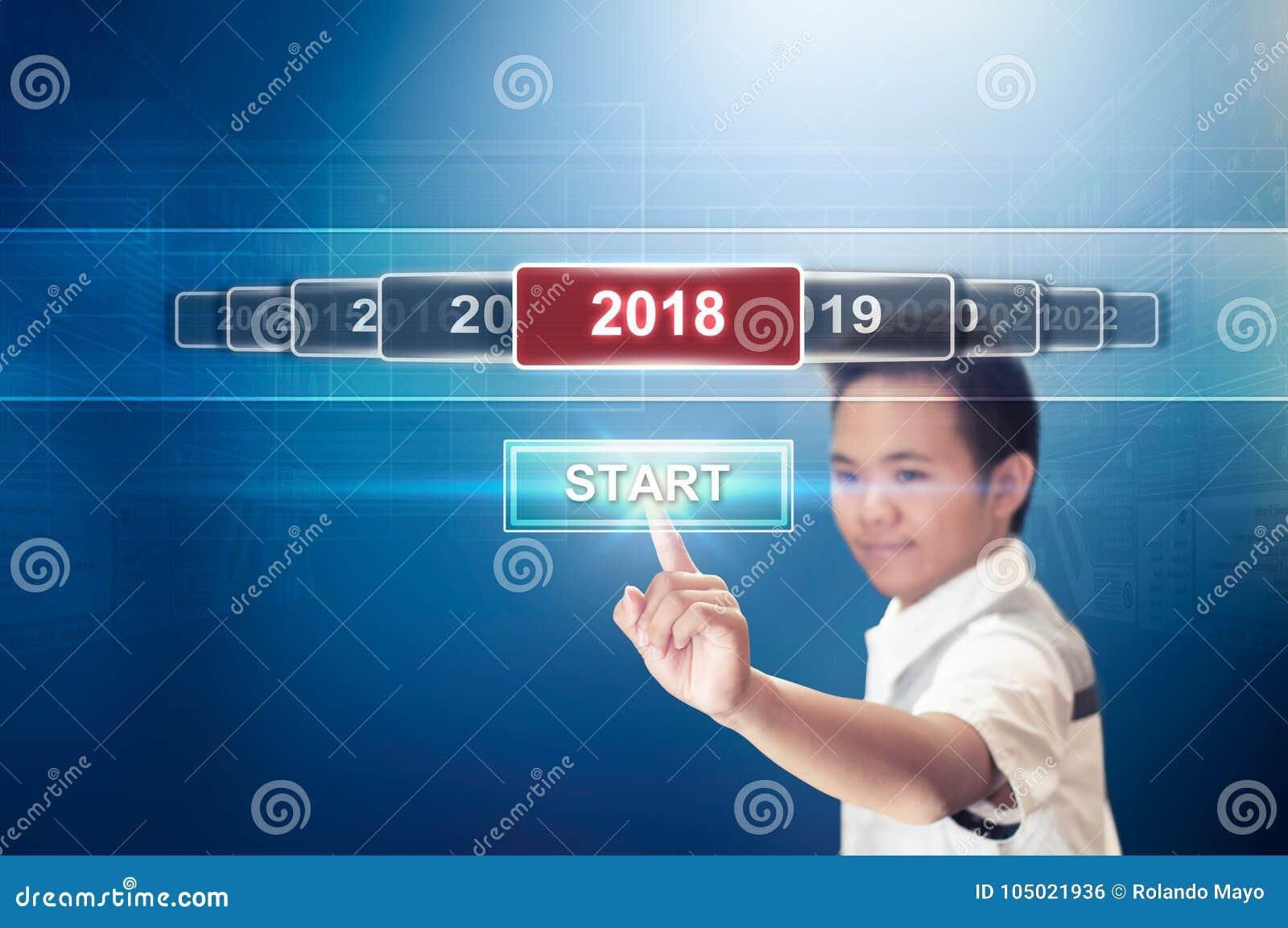 开始新年2018年