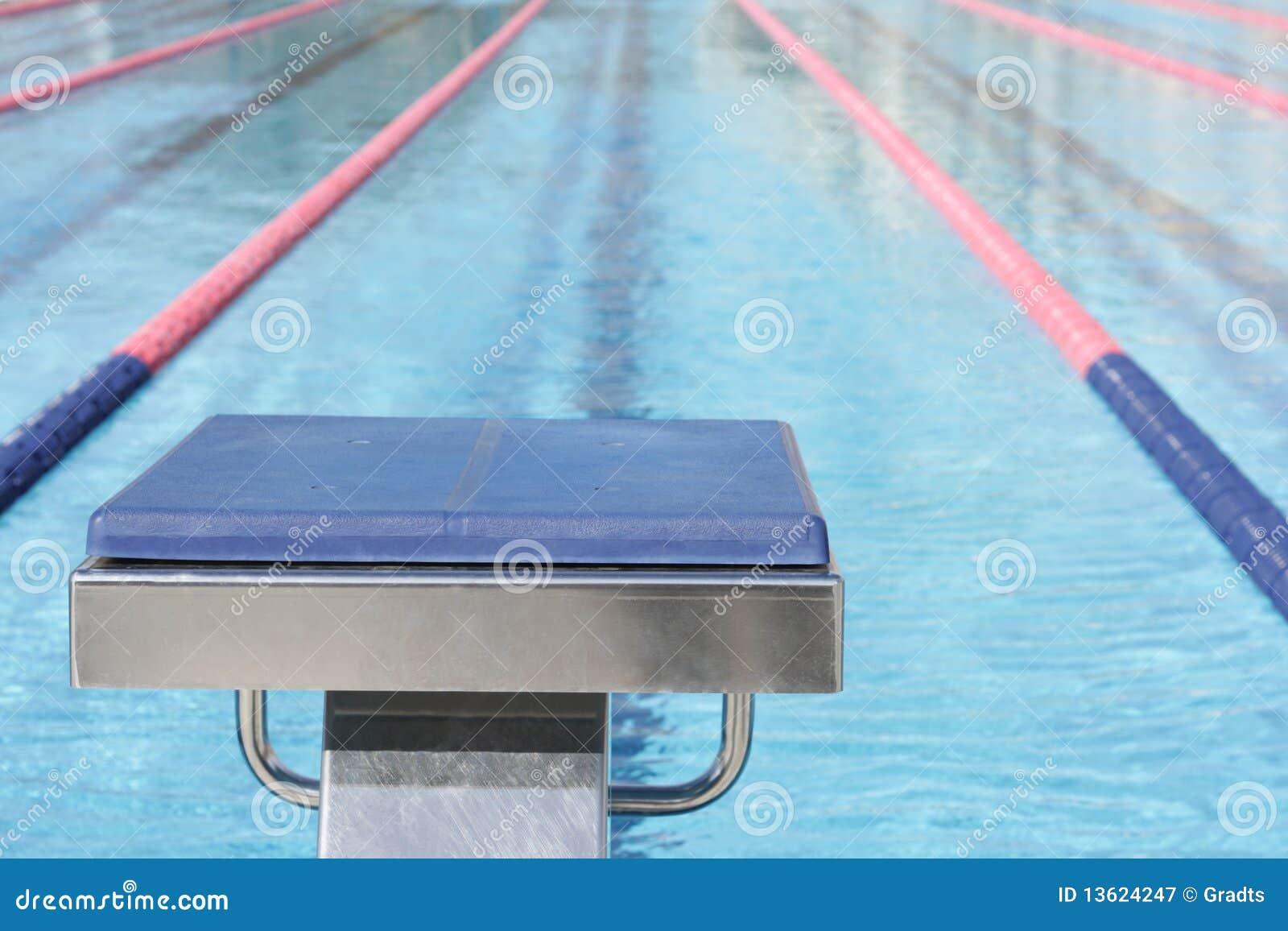 开始游泳的块池