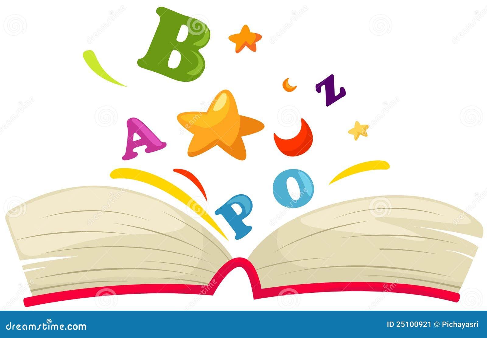 开张与字母表的书