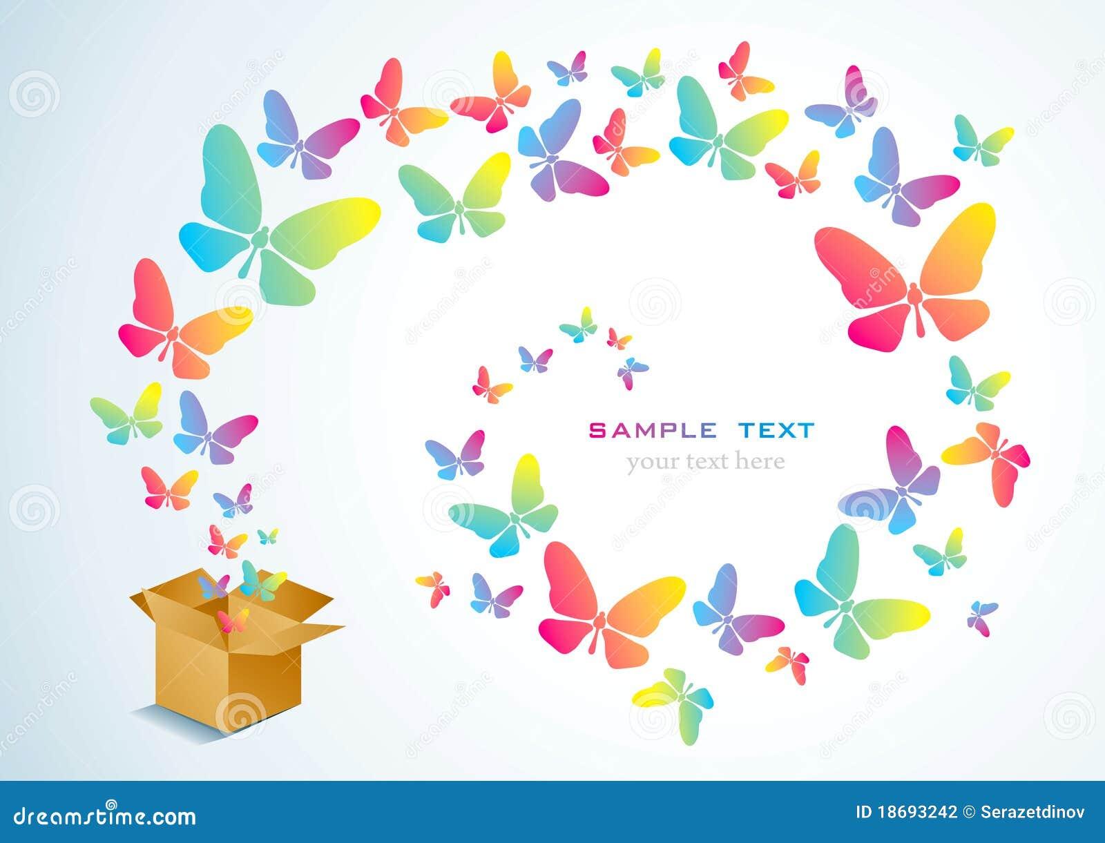 开放配件箱的蝴蝶