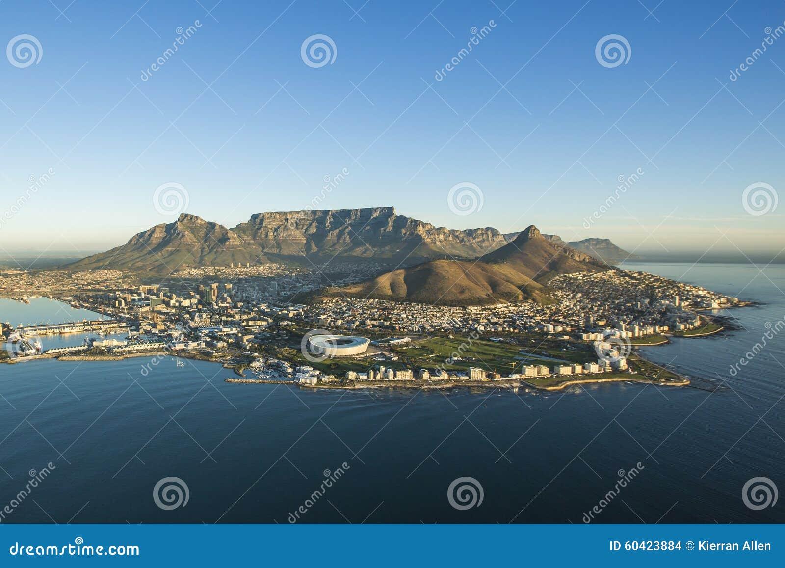 开普敦桌山南非鸟瞰图