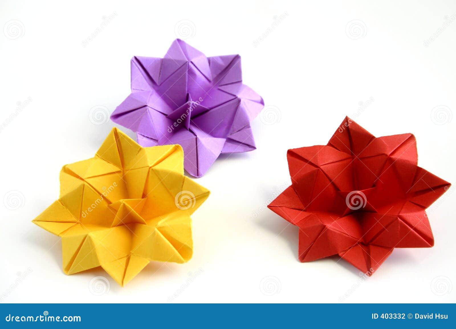 开花莲花origami三
