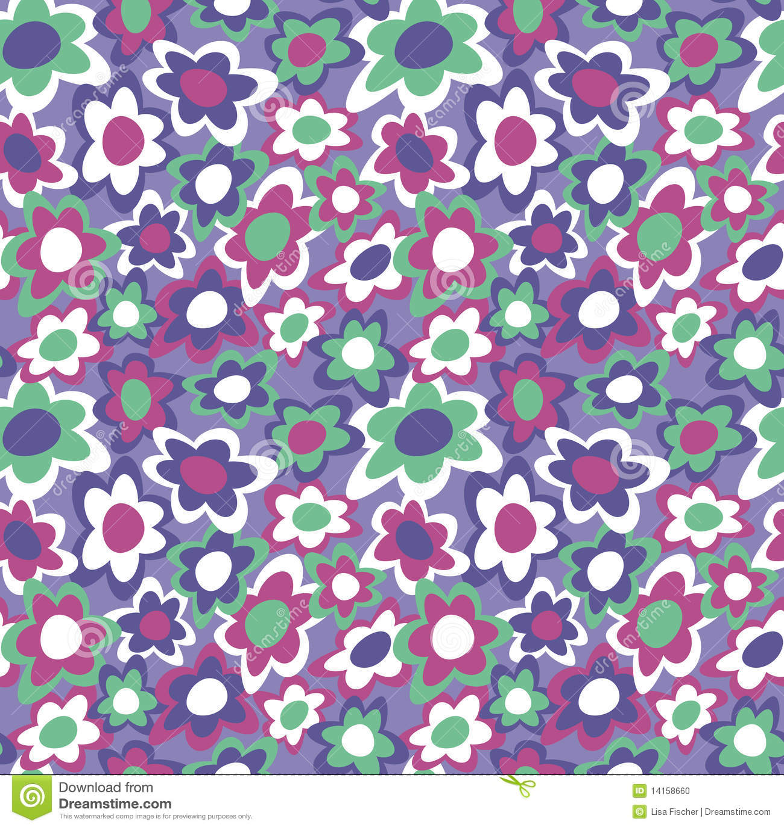 开花质朴的紫罗兰