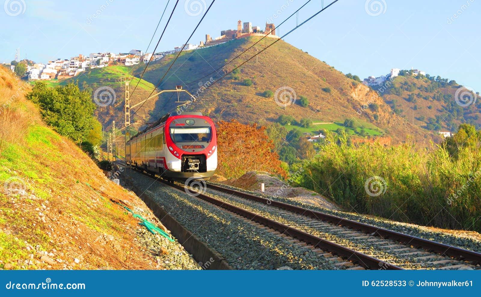 离开阿洛拉,安达卢西亚的火车