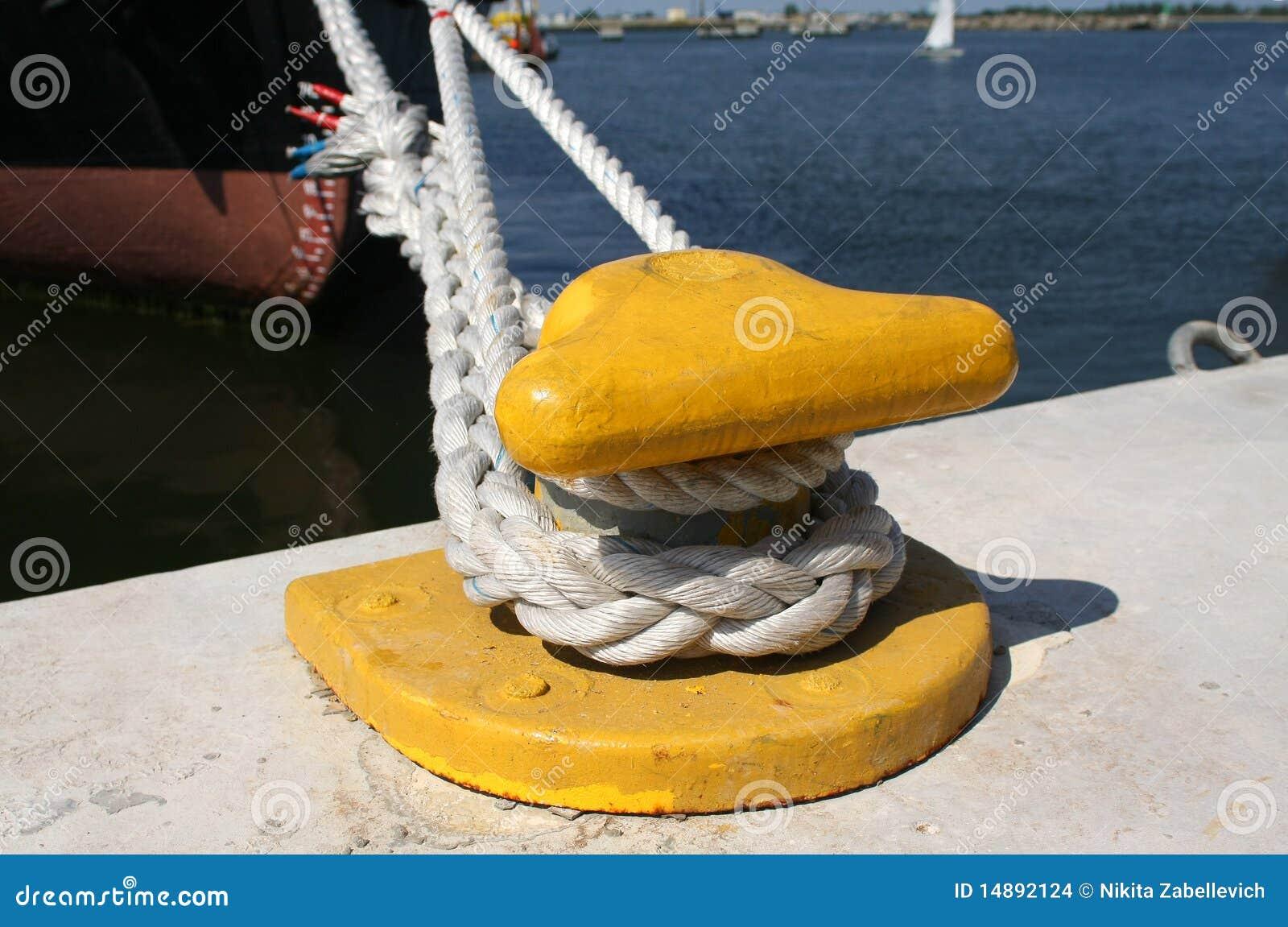 异常分支停泊绳索船