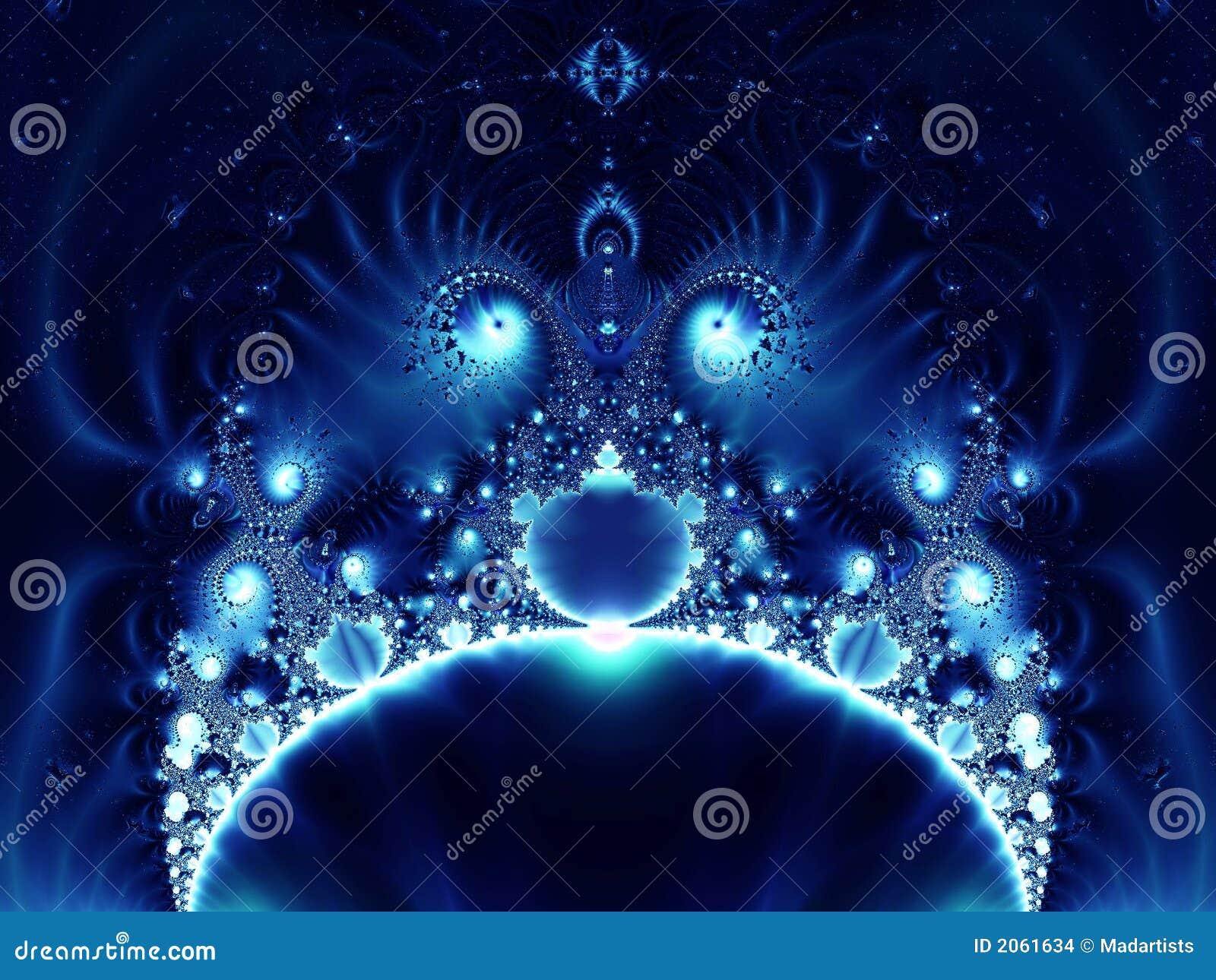 异常蓝色分数维发光
