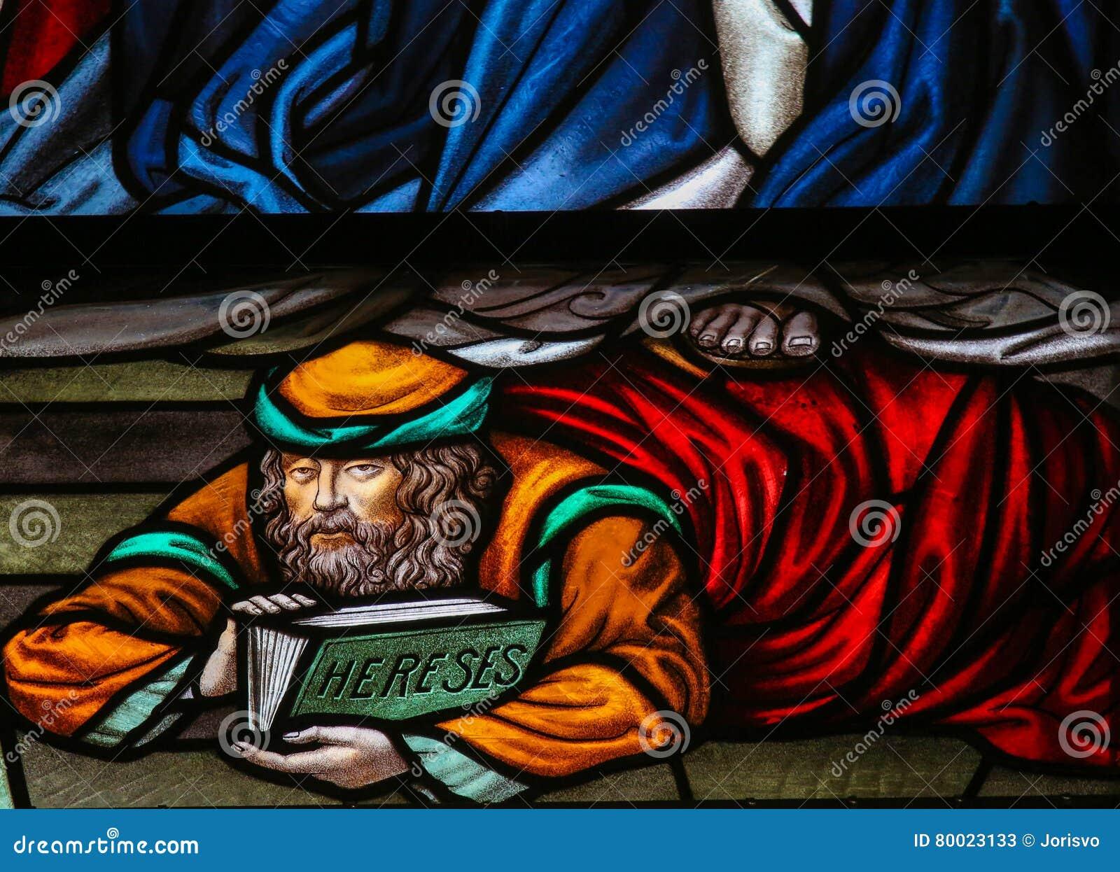 异端-彩色玻璃在梅赫伦大教堂里