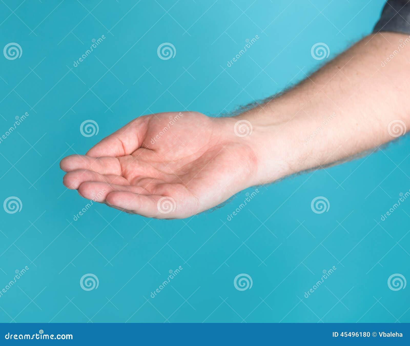 张开人的手