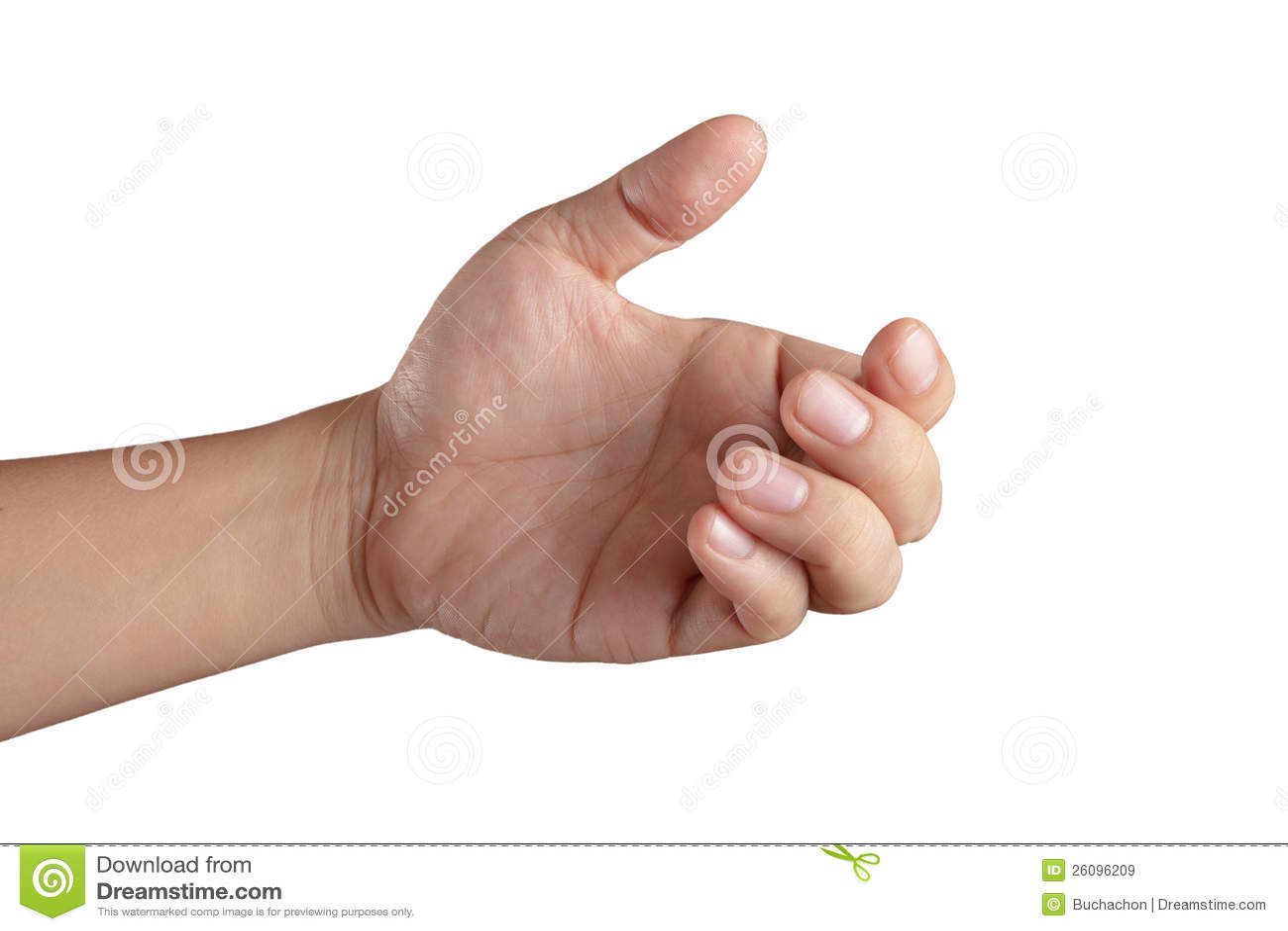 张开显示全部五个手指的现有量