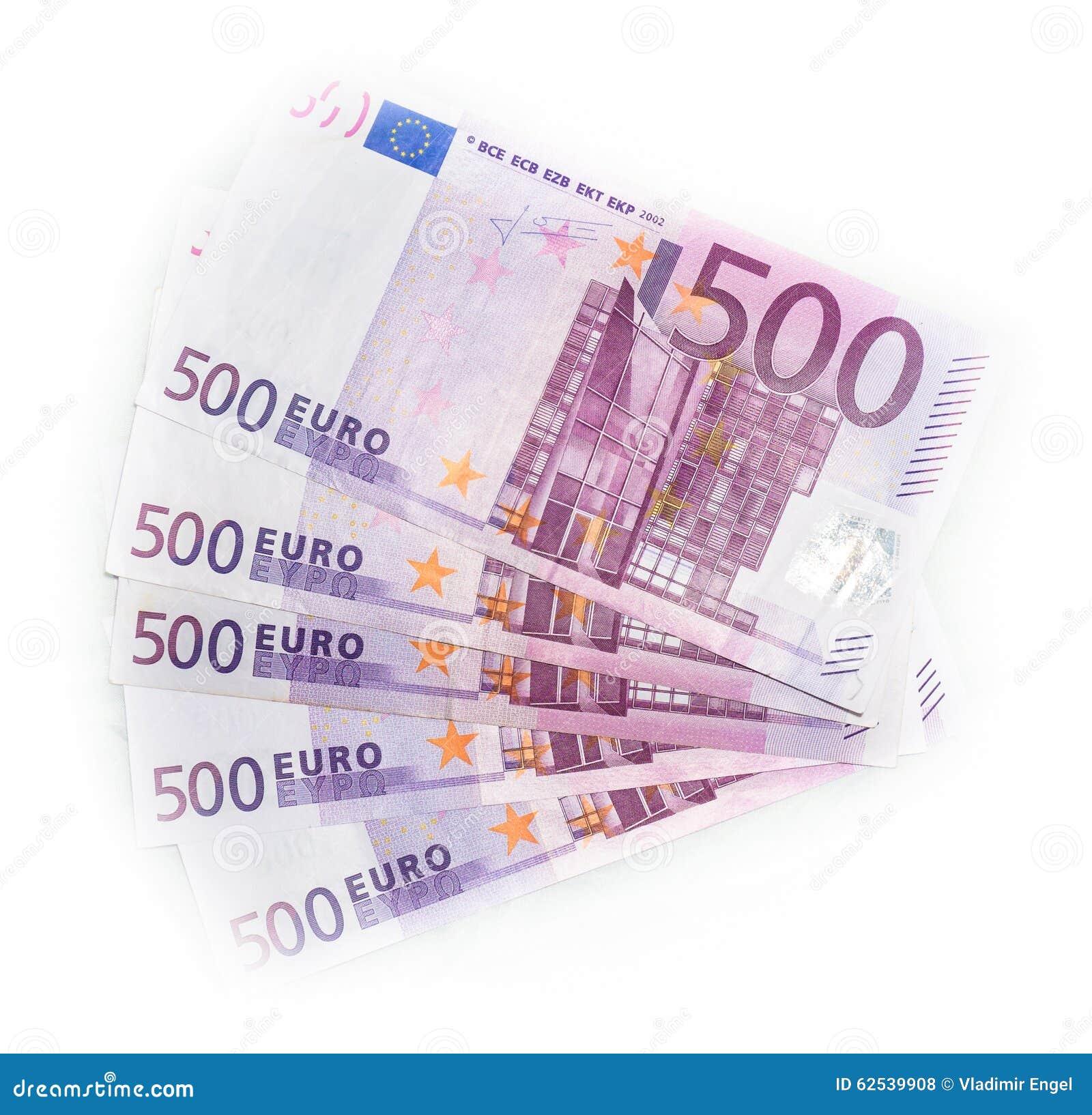 500张欧洲票据欧洲钞票金钱 货币欧盟
