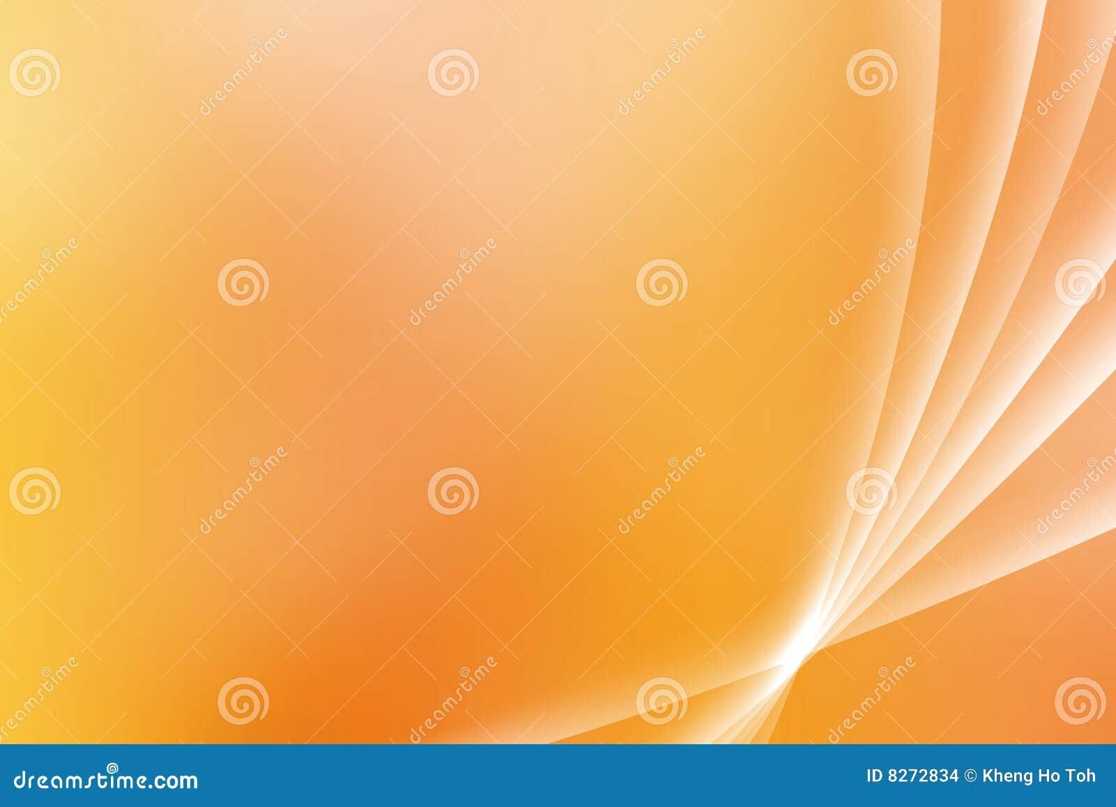 弯曲橙色安慰性的远景