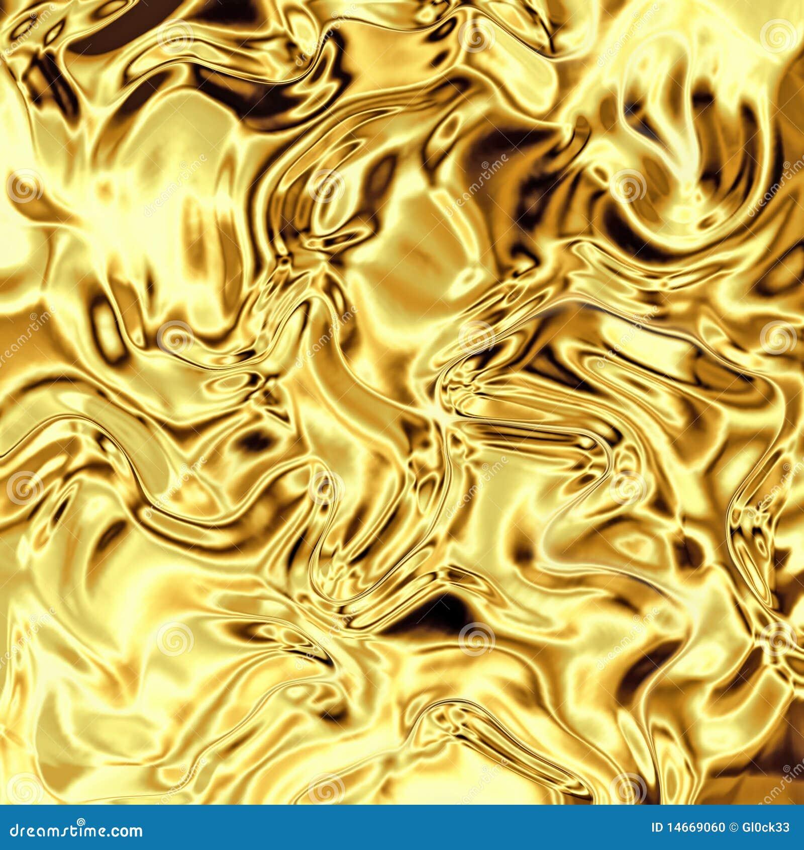 弯曲的箔金子